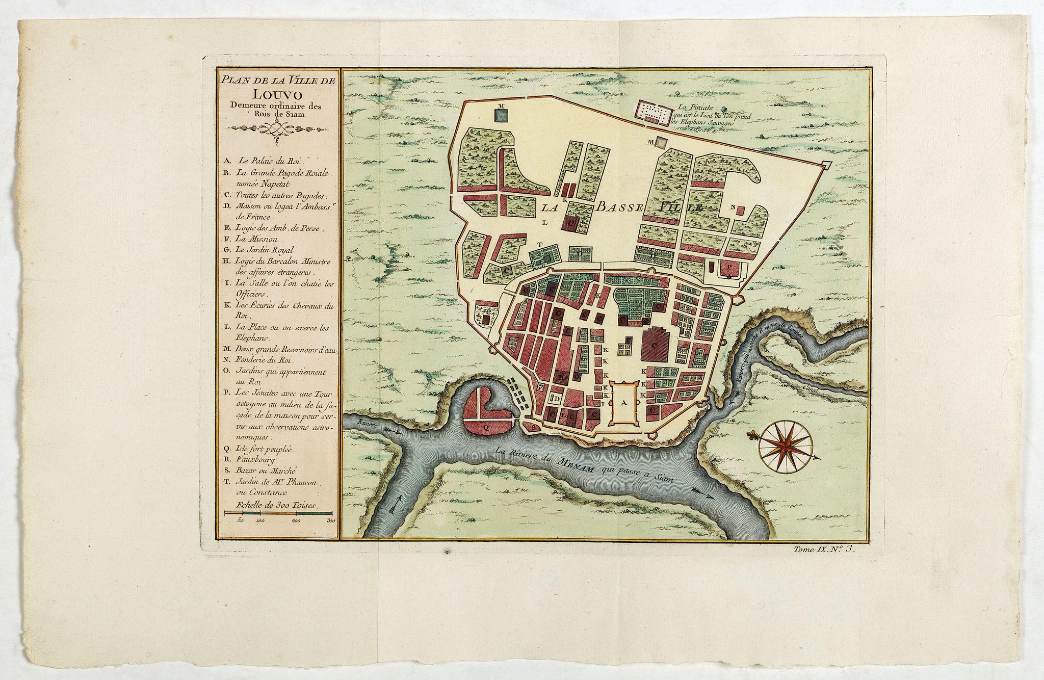 BELLIN, J.N. -  Plan de la ville de Louvo . . .