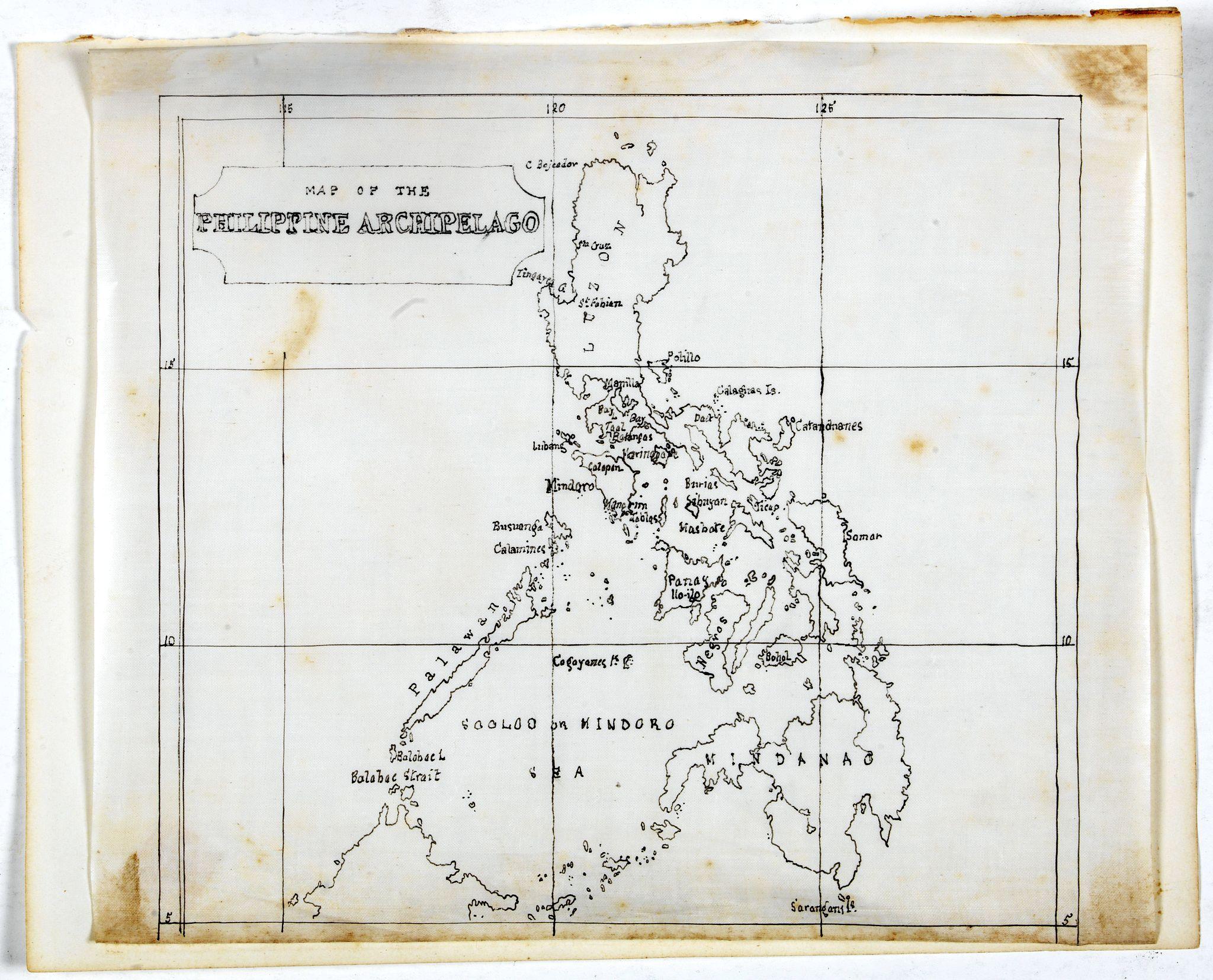 ANONYMOUS. -  Manuscript map of the Philippine Archipelago.