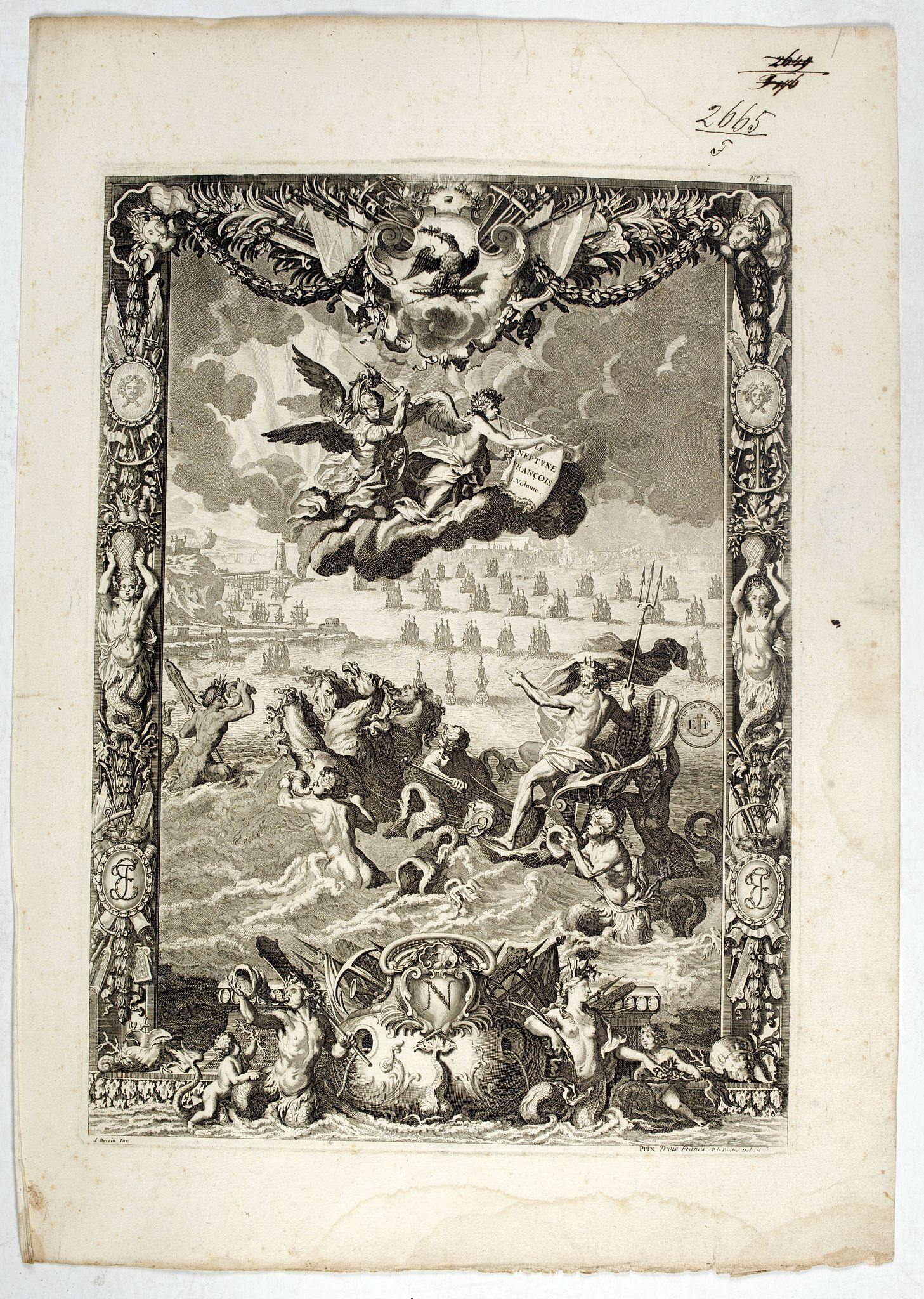 VIANEN, J.van -  (Title page)  Le Neptune François.