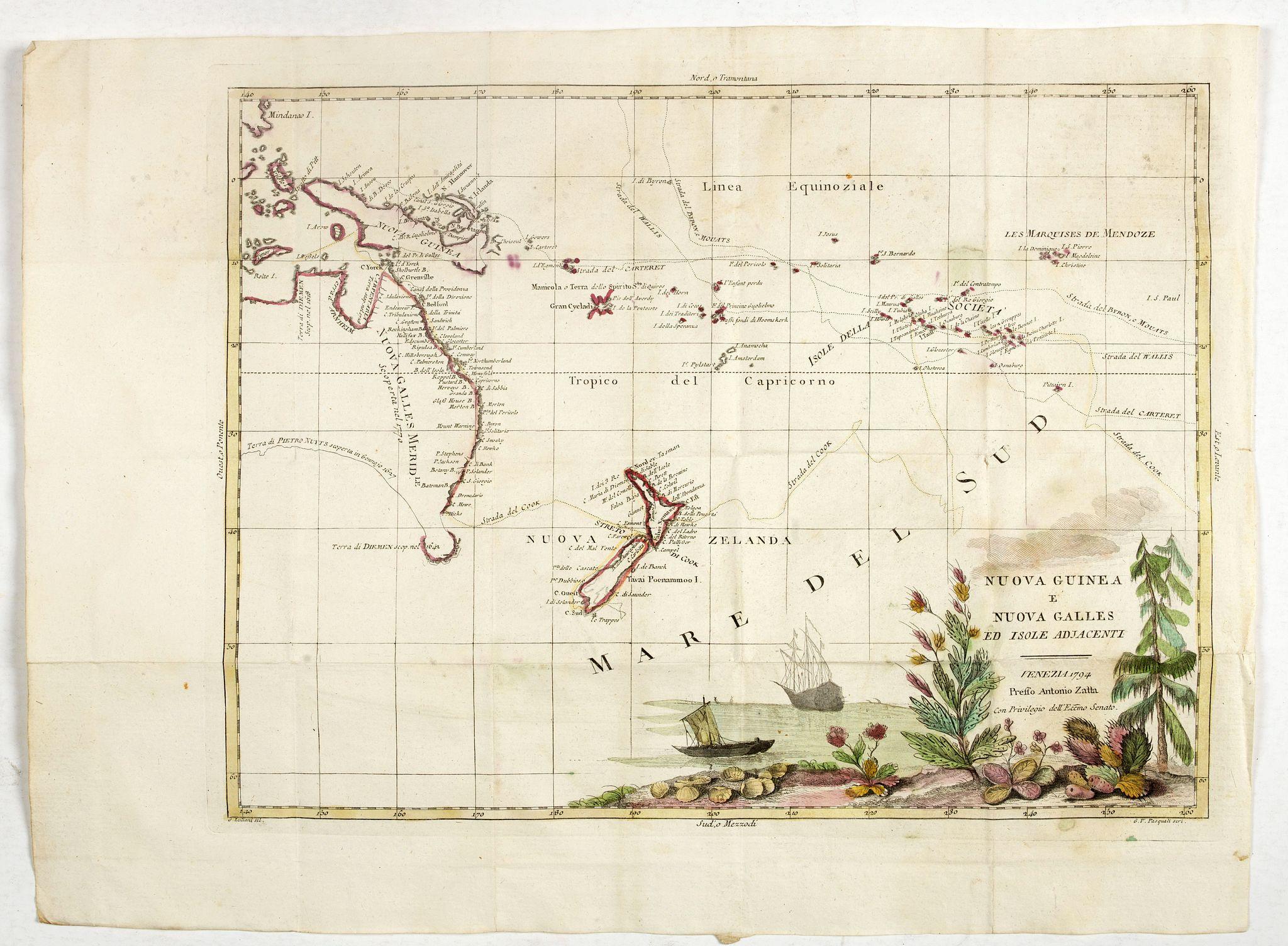 ZATTA, A. -  Nuova Guinea e Nuova Galles ed Isole Adjacenti