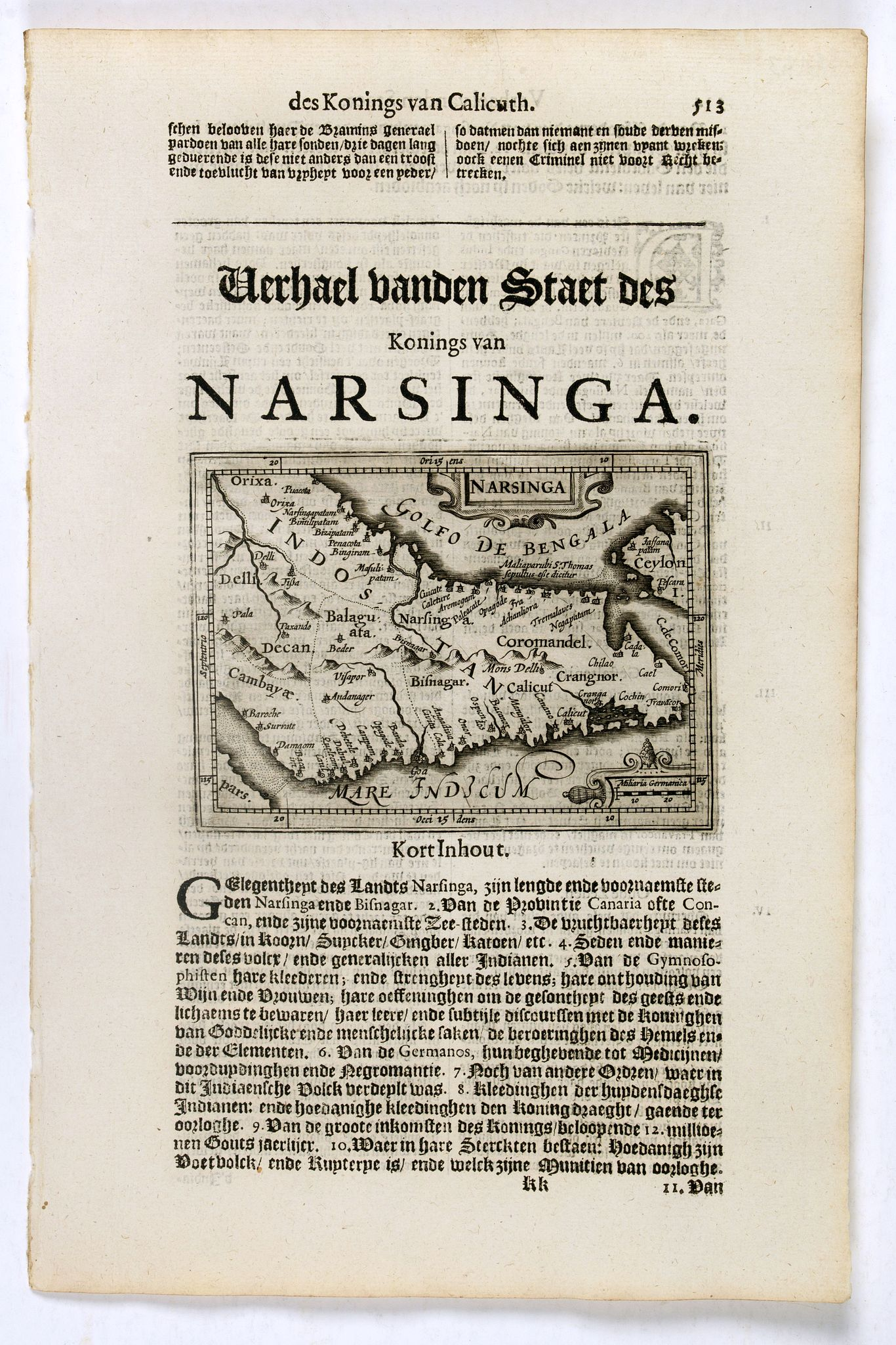 DE CLERCK, N. -  Narsinga. [India]