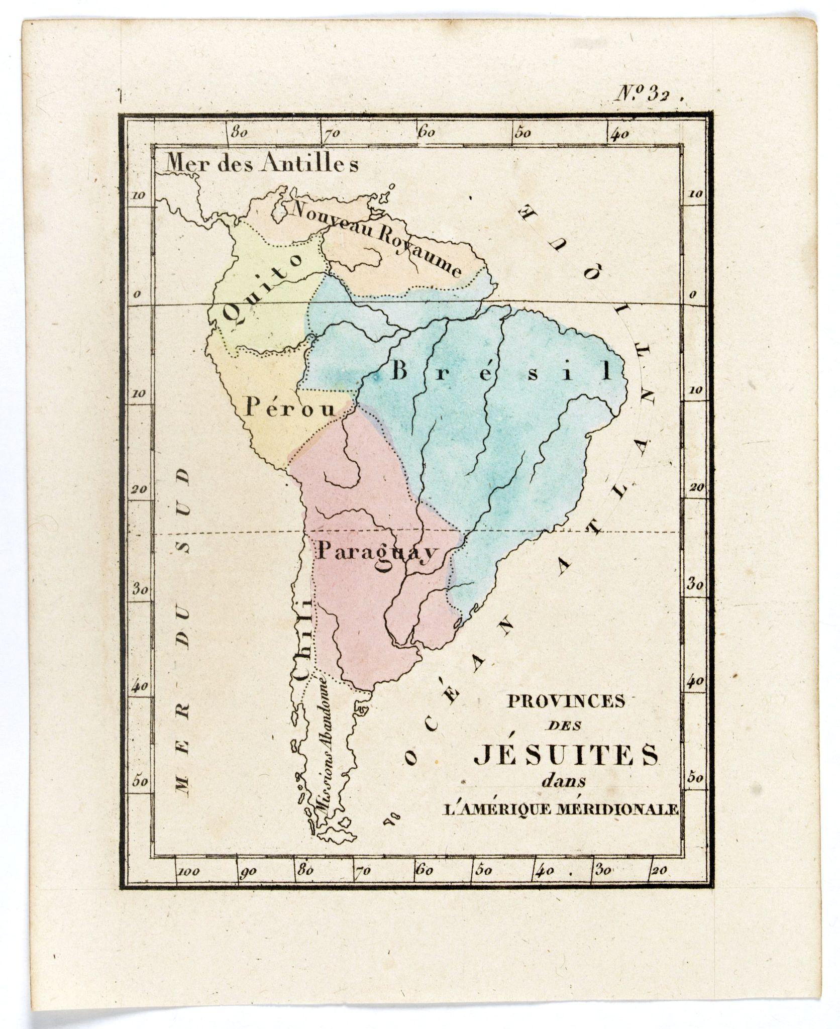 DENIS, L. -  Prvinces des Jésuites dans l'Amerique méridionale.