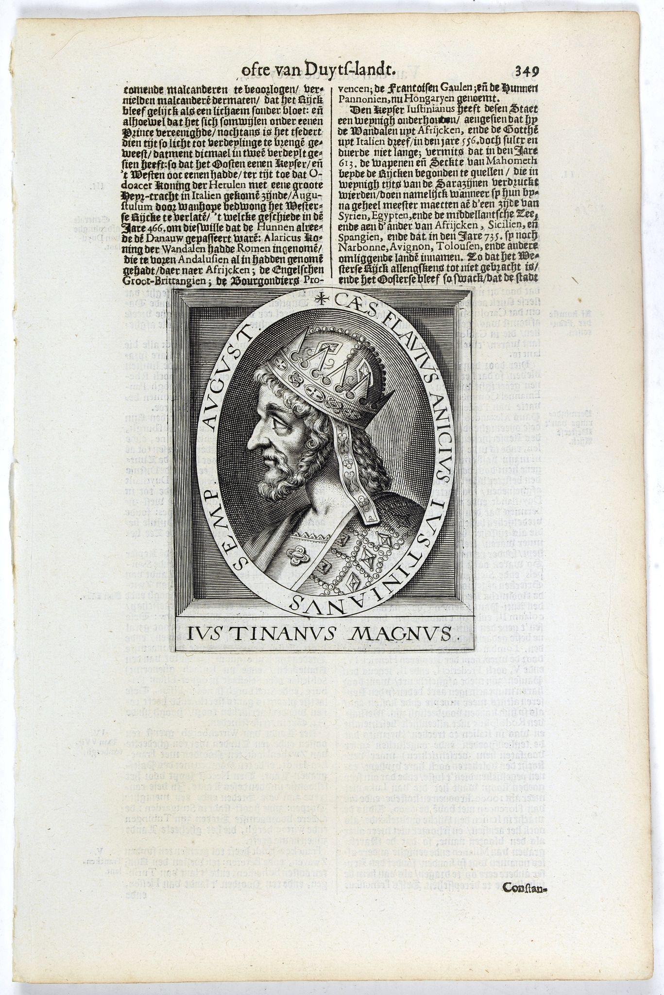 DE CLERCK, N. -  Caes. Flavius Anicius Iustinianus Semp. August.