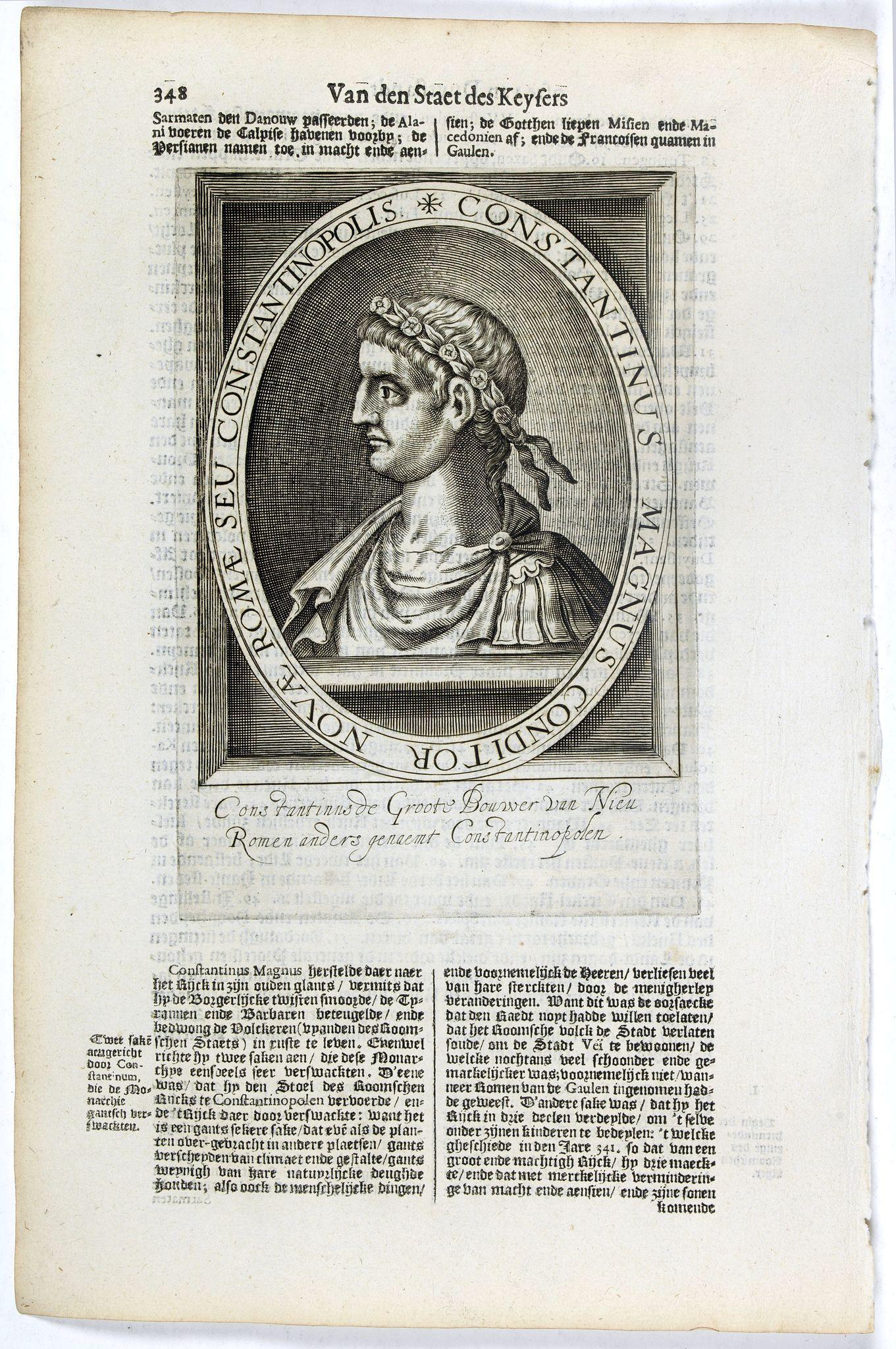 DE CLERCK, N. -  Constantinus Magnus Conditor Novae Romae Seu Constantinopolis.