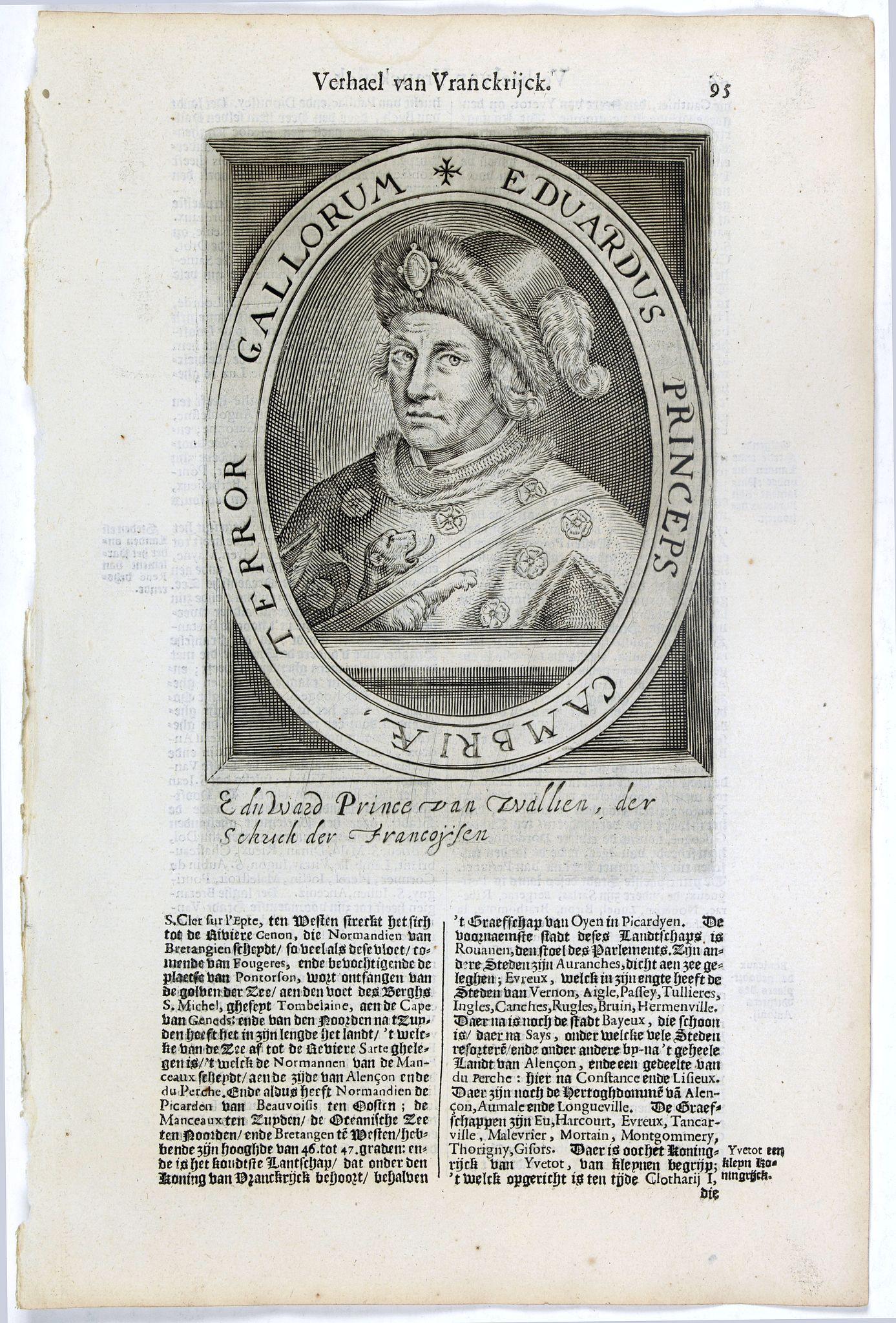 DE CLERCK, N. -  Eduardus Princeps Cambriae, Terror Gallorum.
