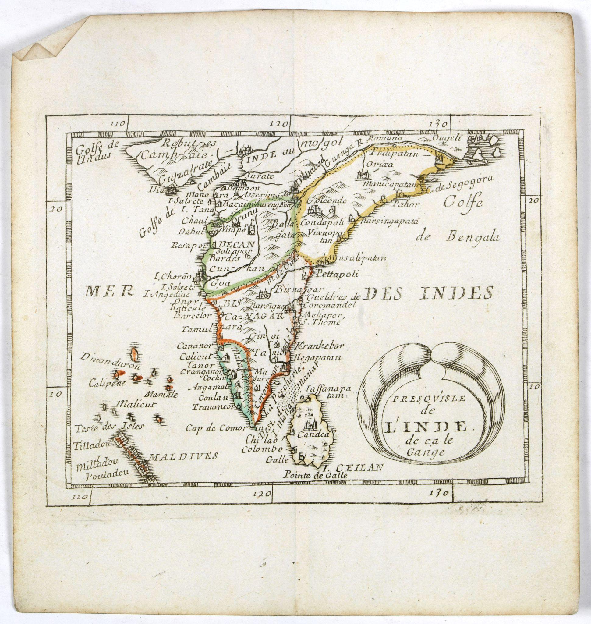 DU VAL, P. -  Presqu''isle de L'Inde de ça le Gange.