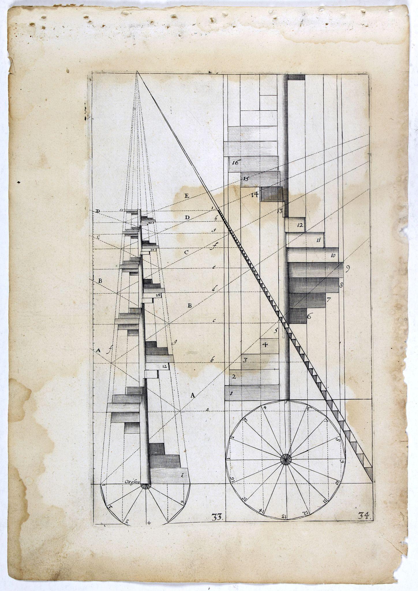 VREDEMAN DE VRIES, J. / HONDIUS, H. -  Perspective print by Vredeman de Vries. 33 / 34.