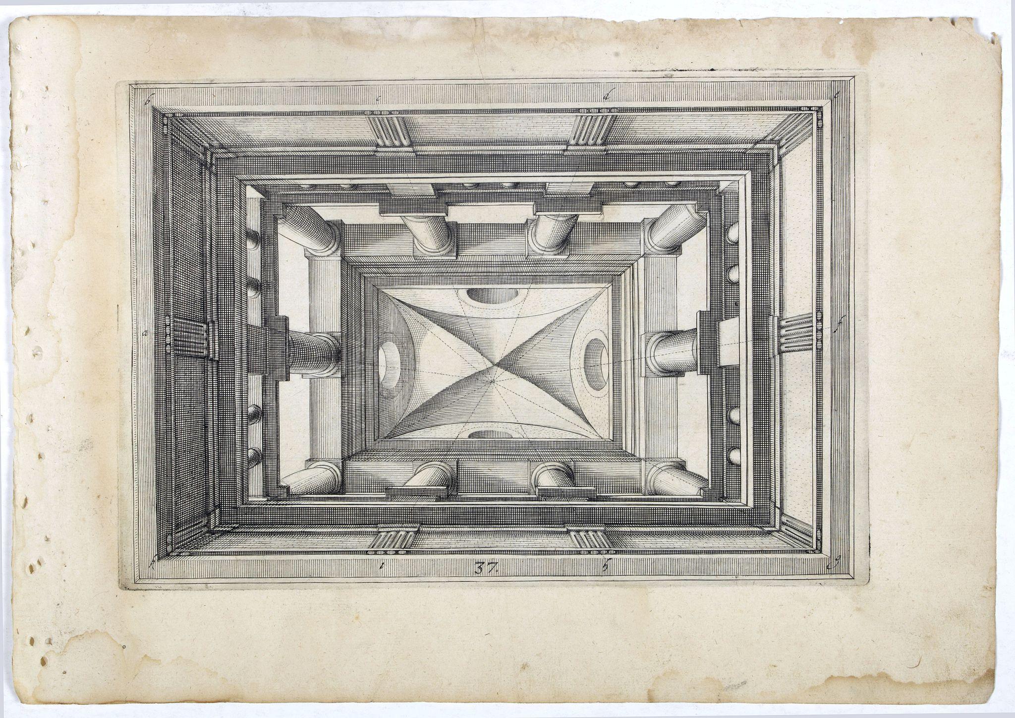 VREDEMAN DE VRIES, J. / HONDIUS, H. -  Perspective print by Vredeman de Vries. 37.