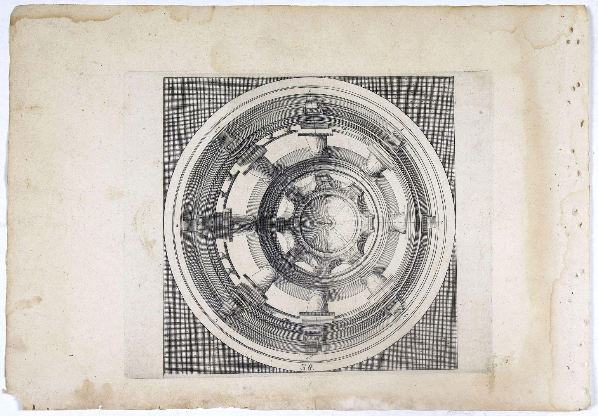 VREDEMAN DE VRIES, J. / HONDIUS, H. -  Perspective print by Vredeman de Vries. 38.