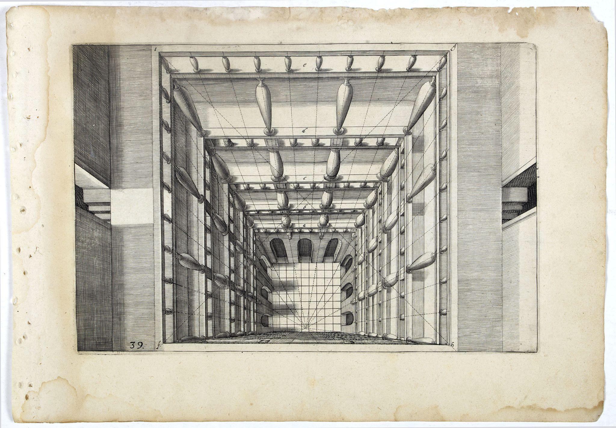 VREDEMAN DE VRIES, J. / HONDIUS, H. -  Perspective print by Vredeman de Vries. 39.