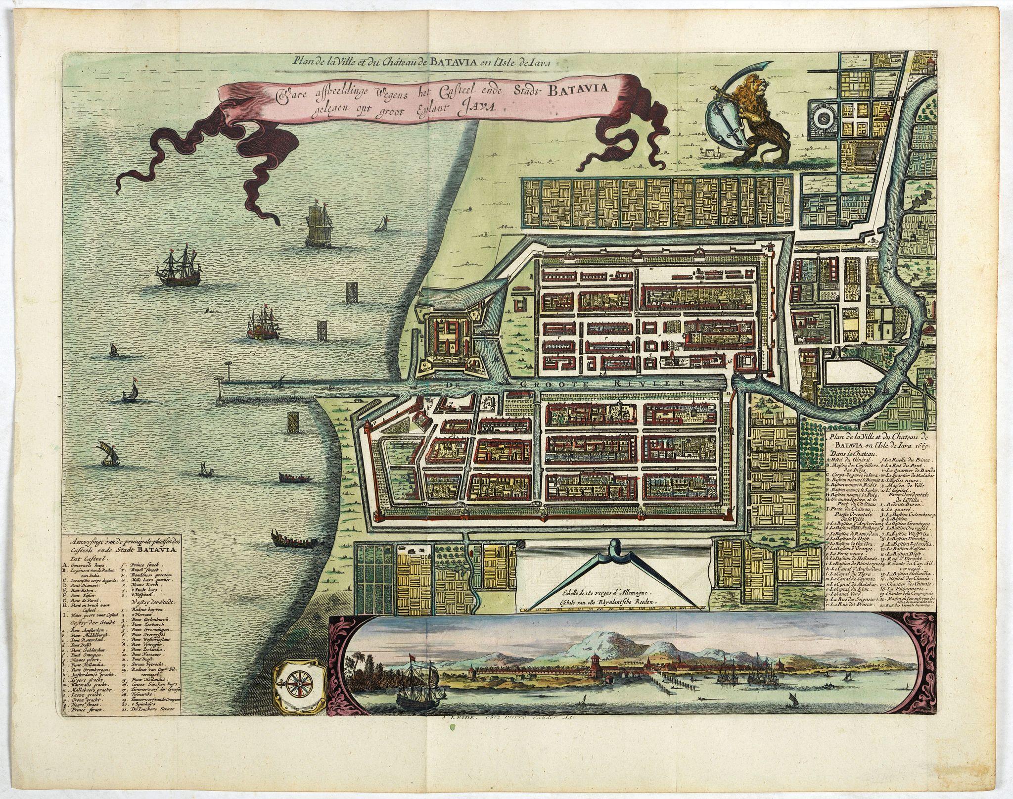VANDER AA, P. -  Ware affbeeldinge wegens het casteel ende stadt Batavia. . .