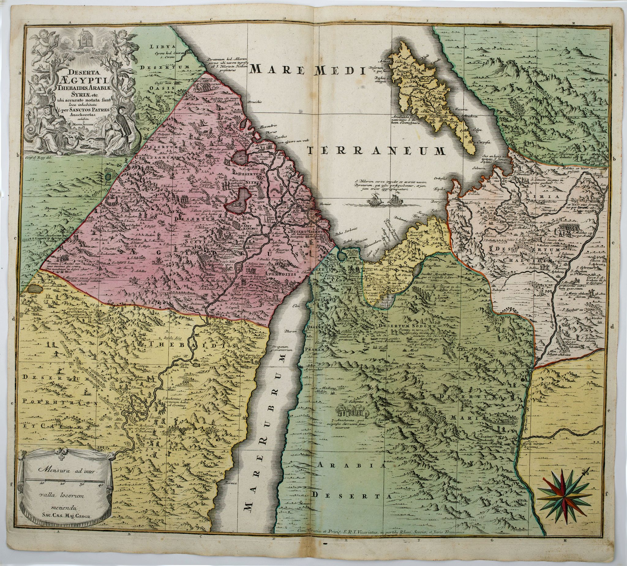 SEUTTER, M. - Deserta Aegypti Thebaidis, Arabiae, Syriae etc.