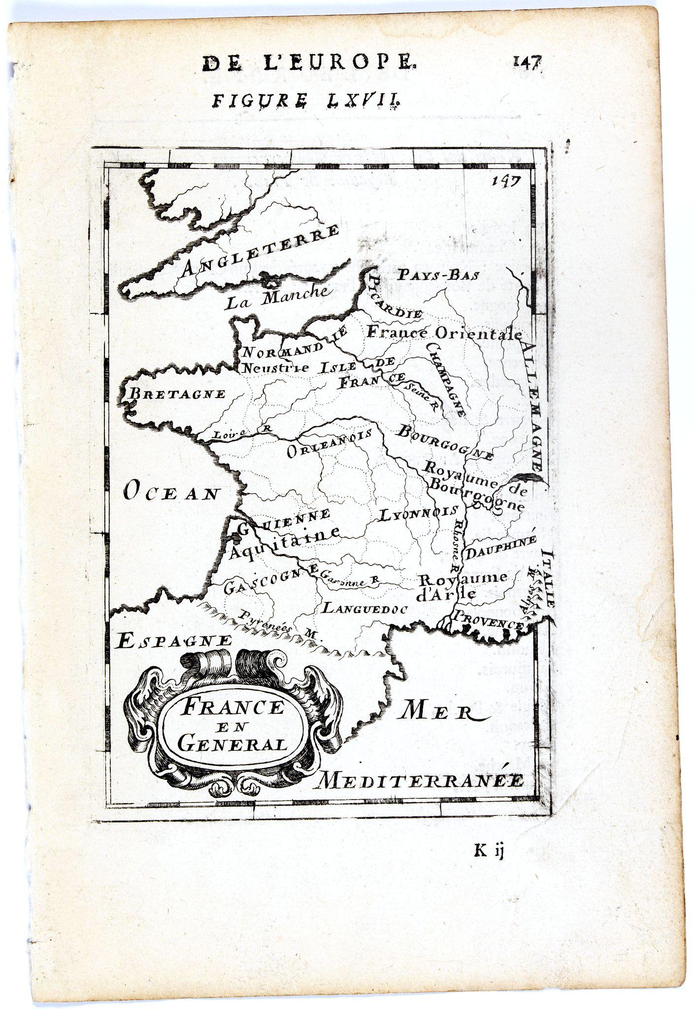 MALLET, A.M. -  France en general. [de l'Europe / Figure LXVII] 147