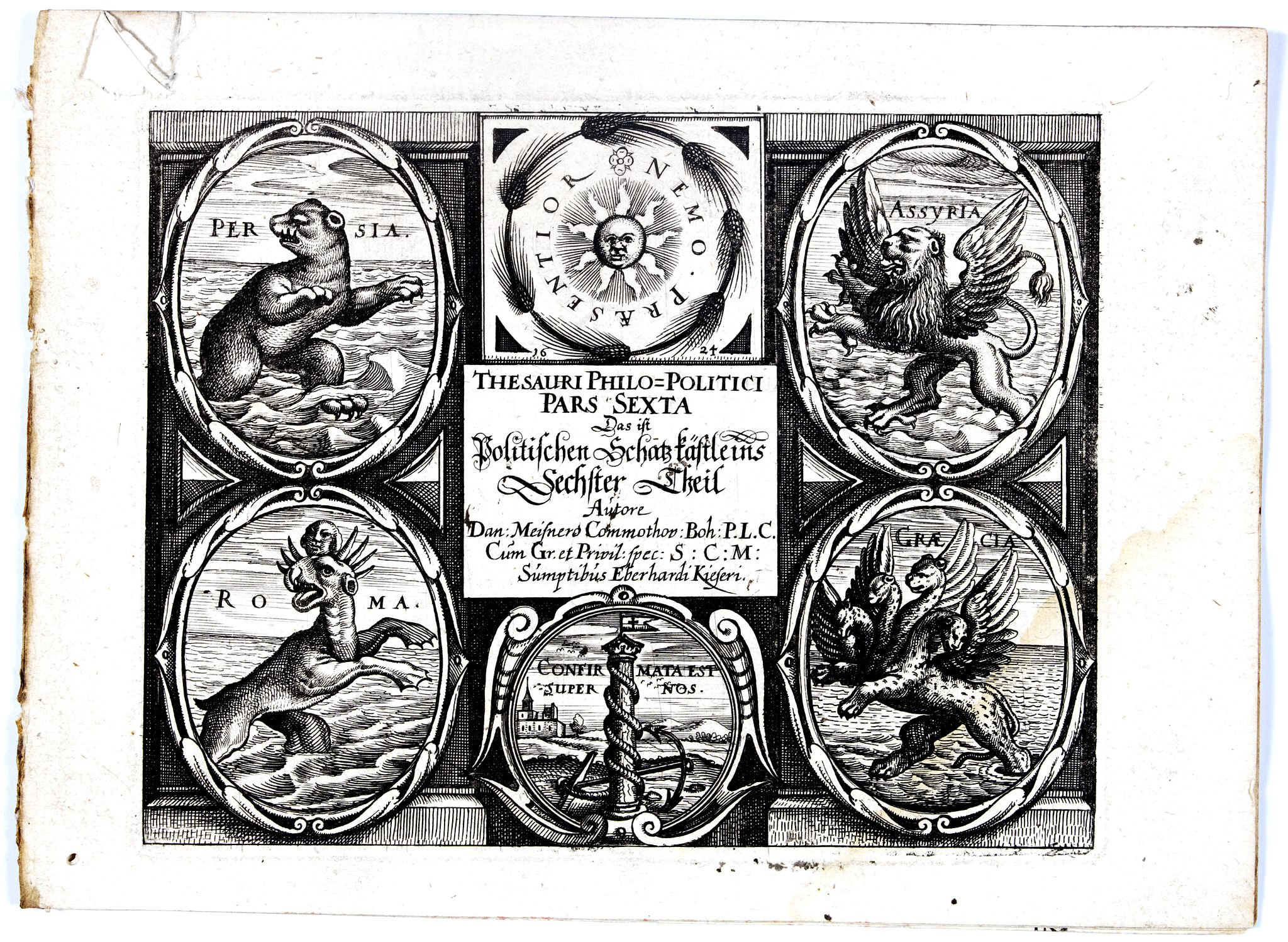 MEISNER, D. -  [Title page] Thesauri Philo-Politci Pars Sexta. . .