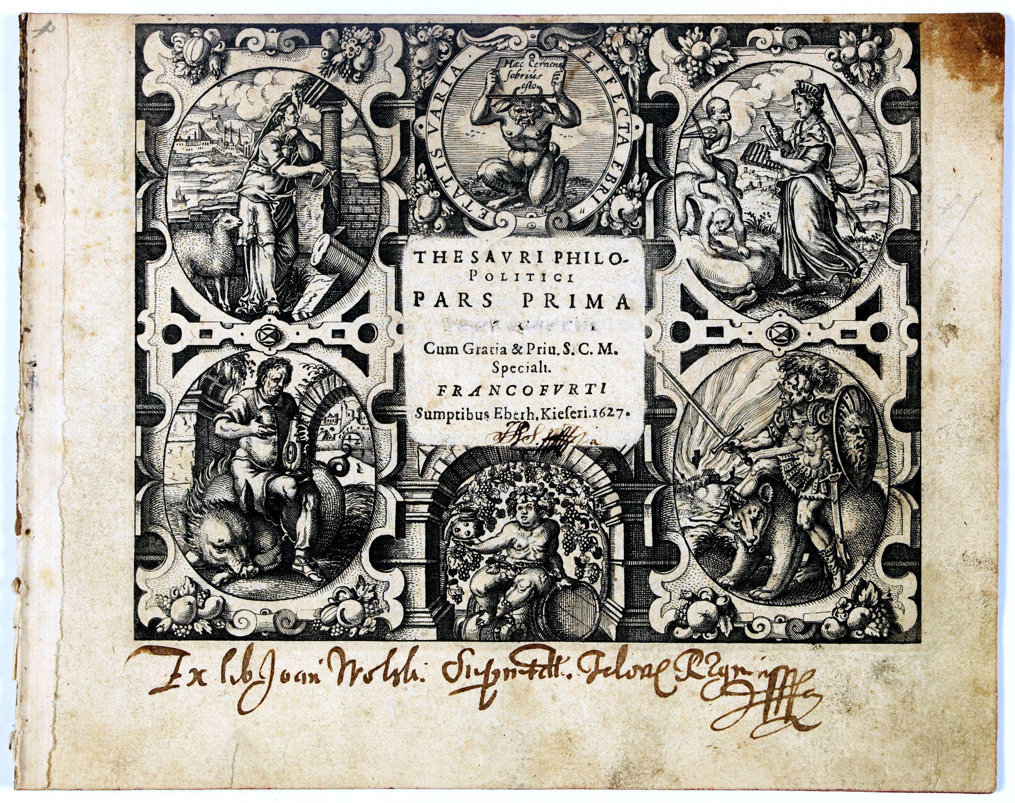 MEISNER, D. -  [Title page] Thesauri Philo Politici pars Prima …