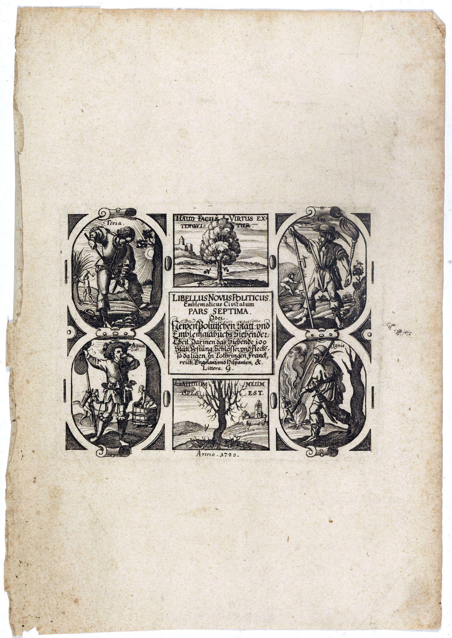 MEISNER, D. -  [Title page] Libellus Novus Politicus.. Pars Spetima.