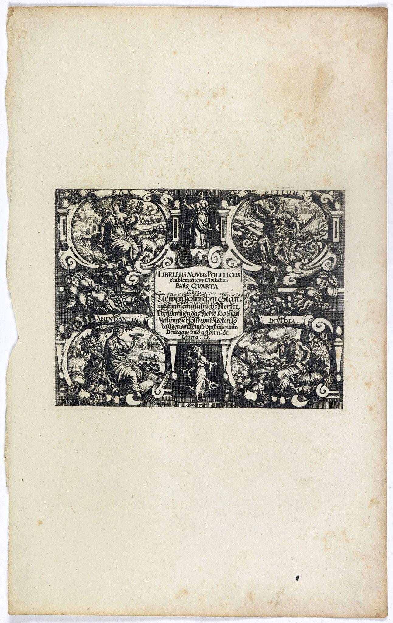 MEISNER, D. -  [Title page] Libellus Novus Politicus.. Pars Quarta.