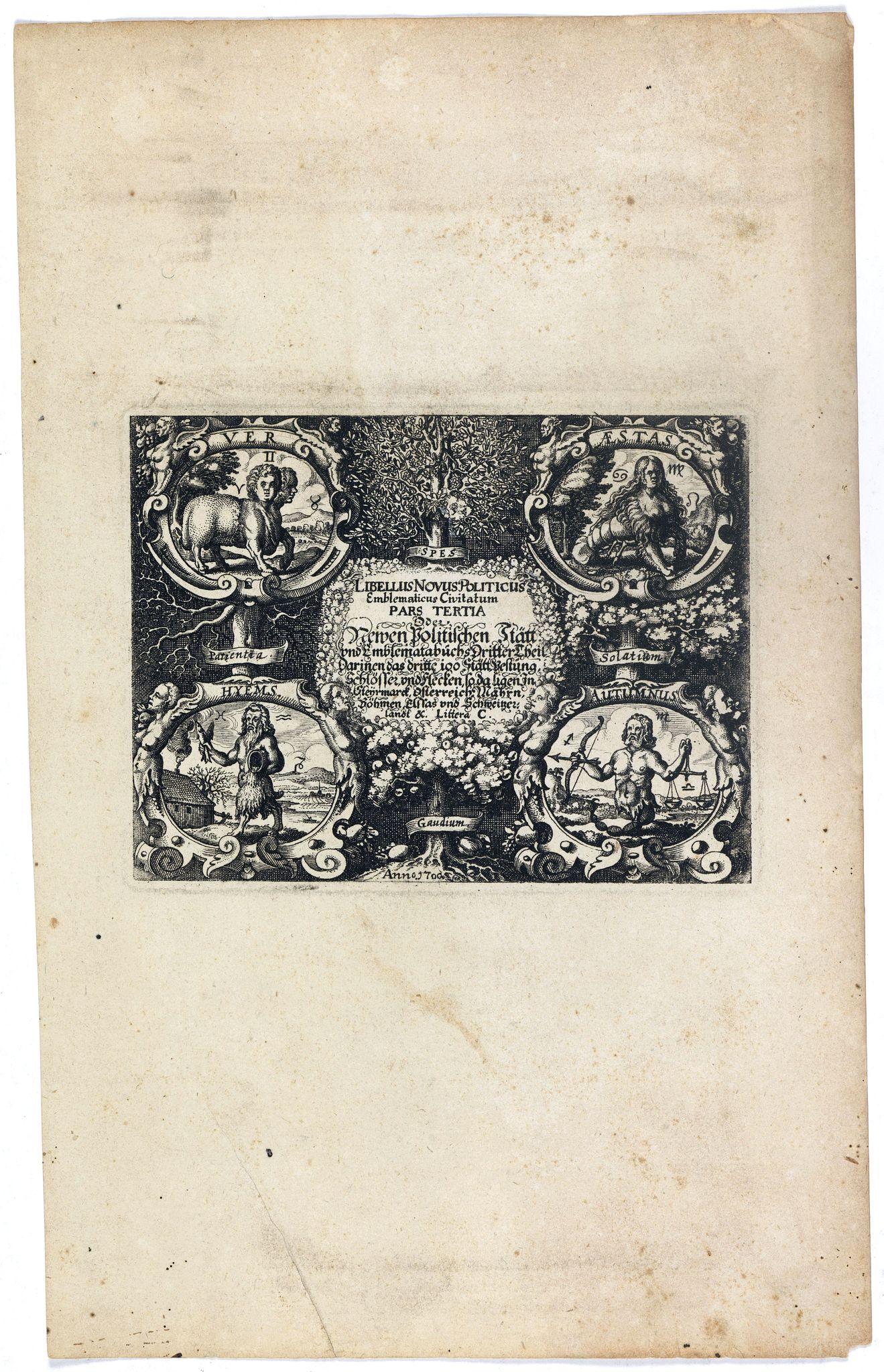 MEISNER, D. -  [Title page] Libellus Novus Politicus.. Pars Tertia.