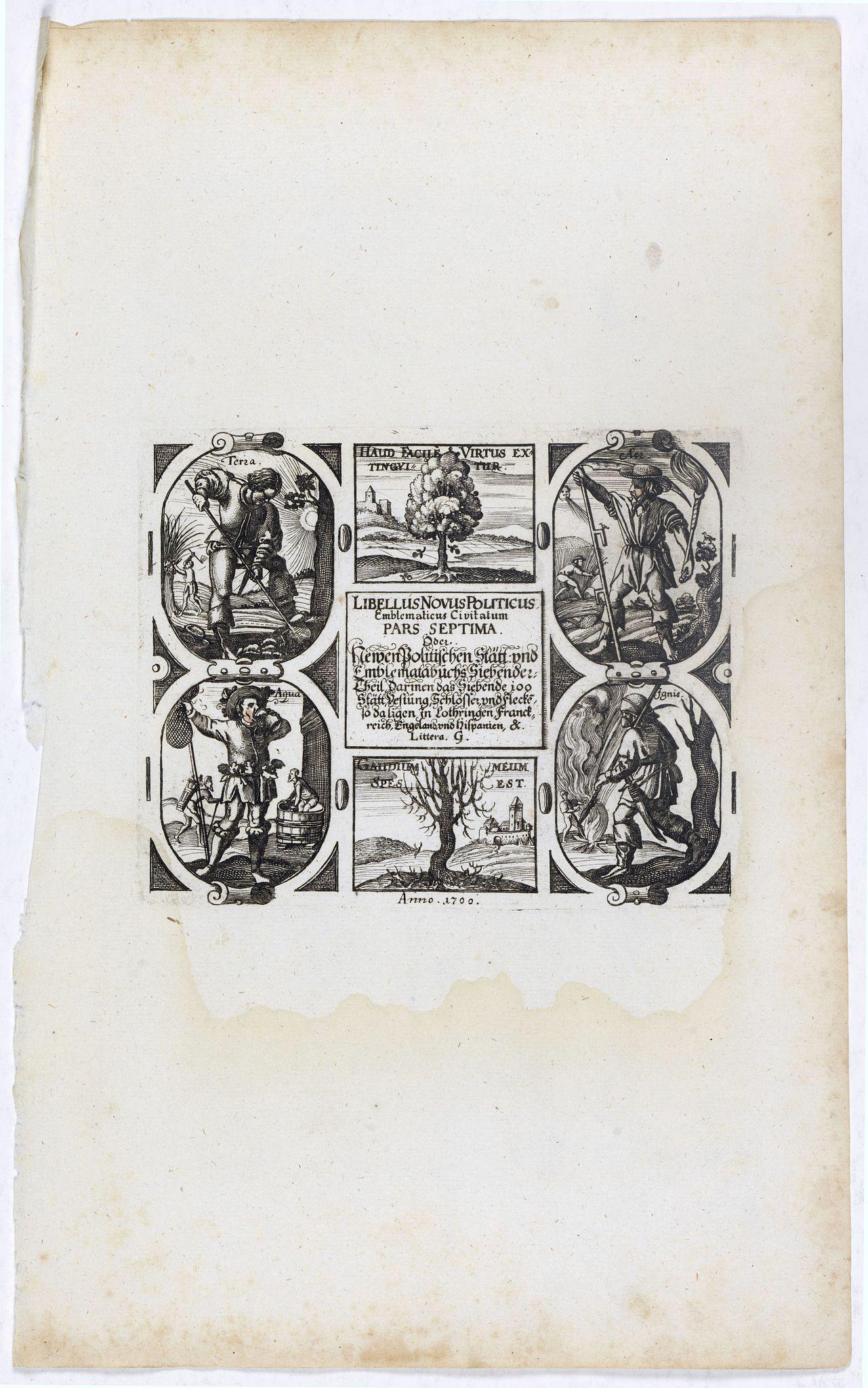 MEISNER,D. -  [Title page] Libellus Novus Politicus.. Pars Septima.