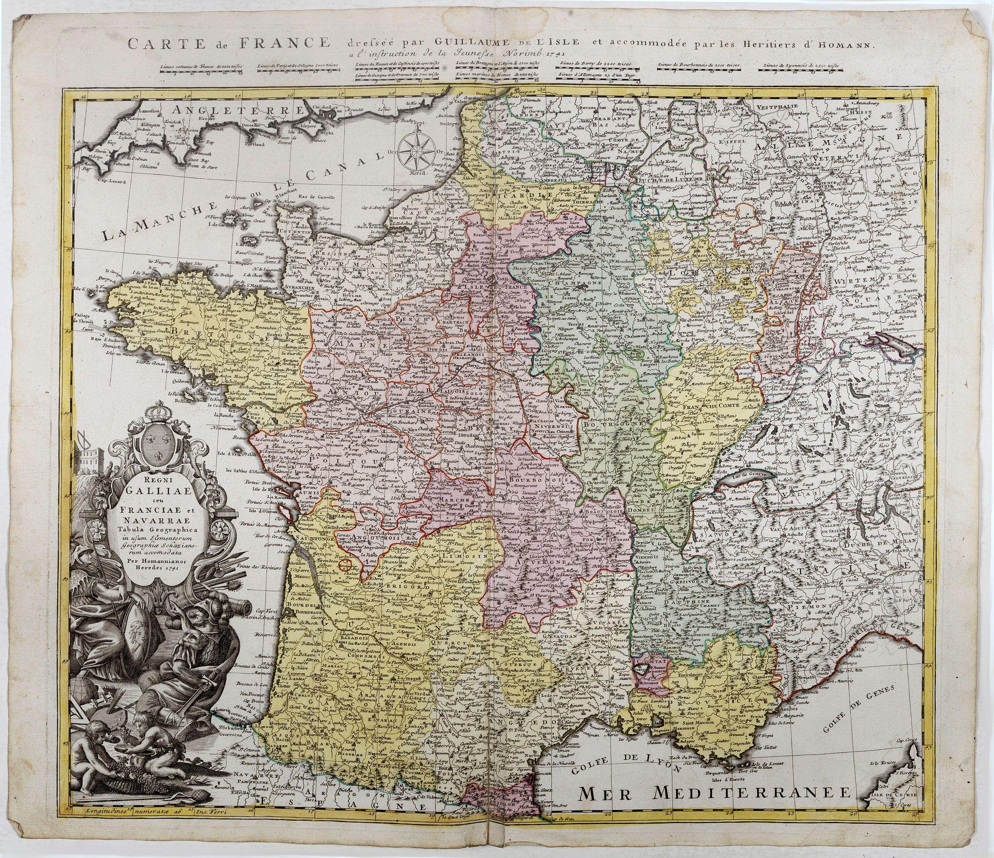 HOMANN HEIRS -  Regni Galliae seu Franciae et Navarrae.