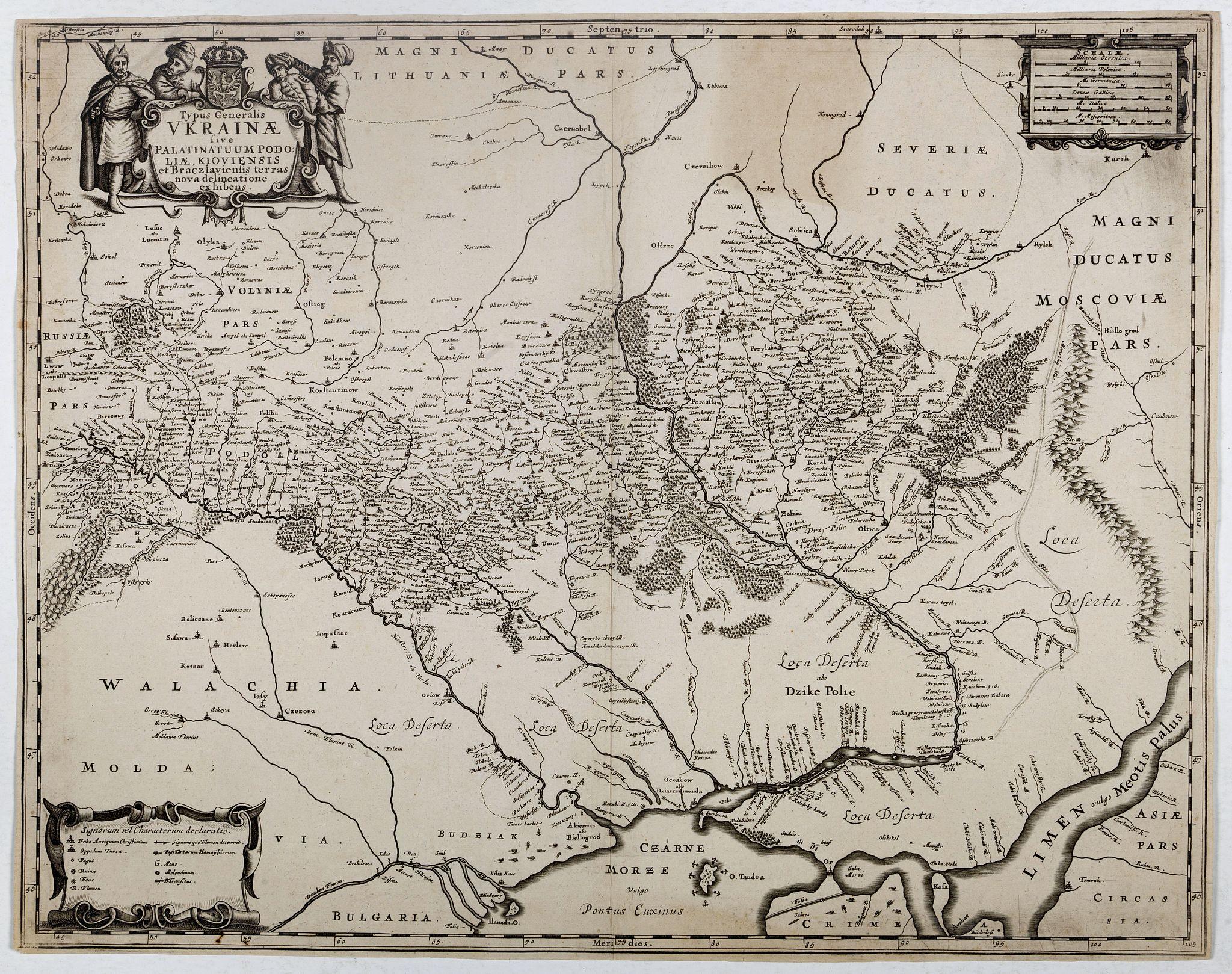 JANSSONIUS, J. -  Typus Generalis Ukrainae sive Palatinatuum Podoliae, Kioviensis et Braczlaviensis terras nova delineatione exhibens. . .