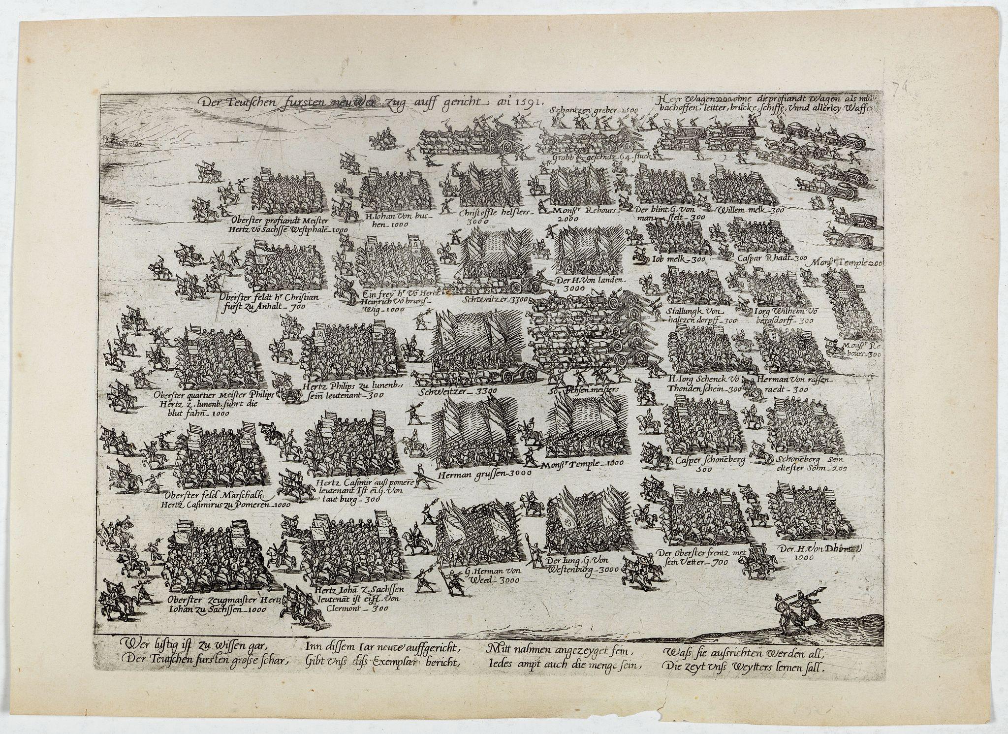 HOGENBERG, F. -  Der Teutschen fursen neuwer Zug auff gericht an 1591