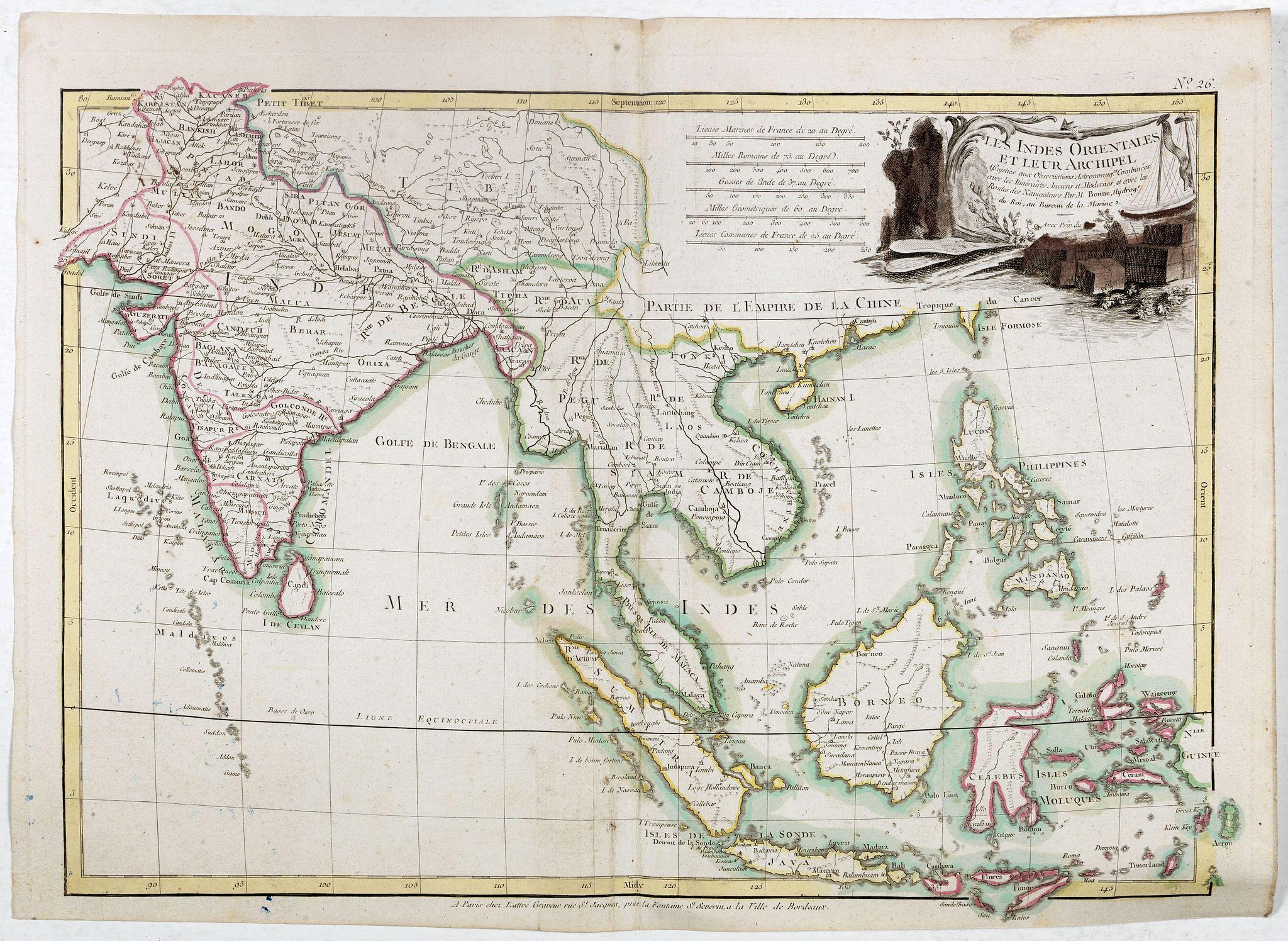 LATTRÉ / BONNE, R. -  Les Indes Orientales et leur Archipel. . .