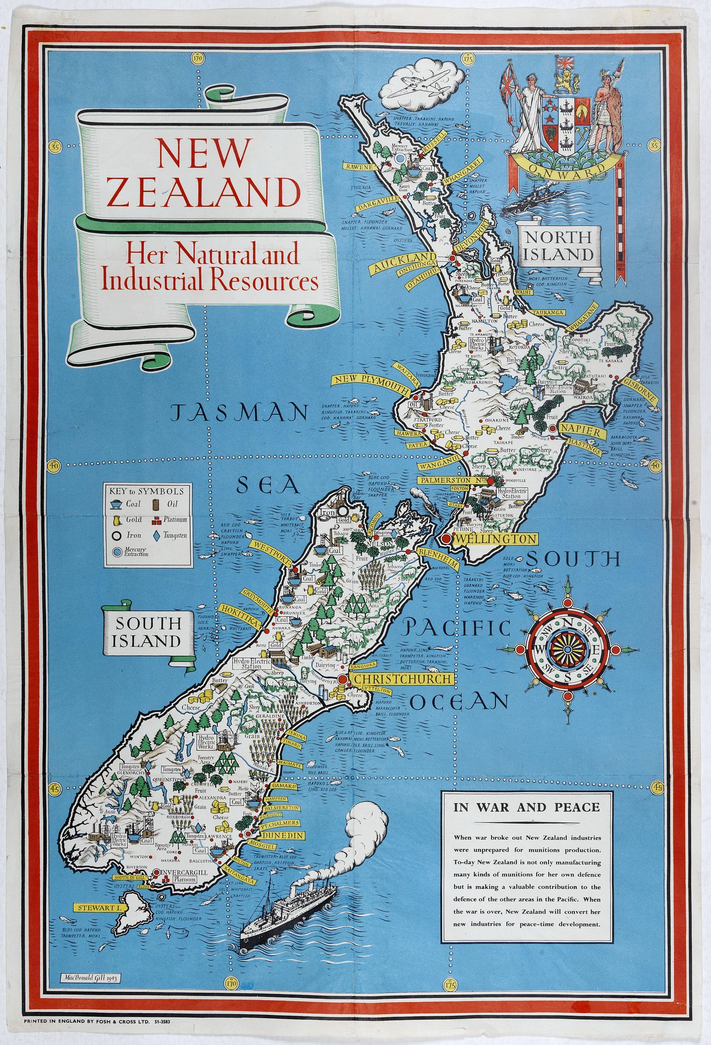 MACDONALD GILL, L. -  New Zealand. Her Natural and Industrial Recources.