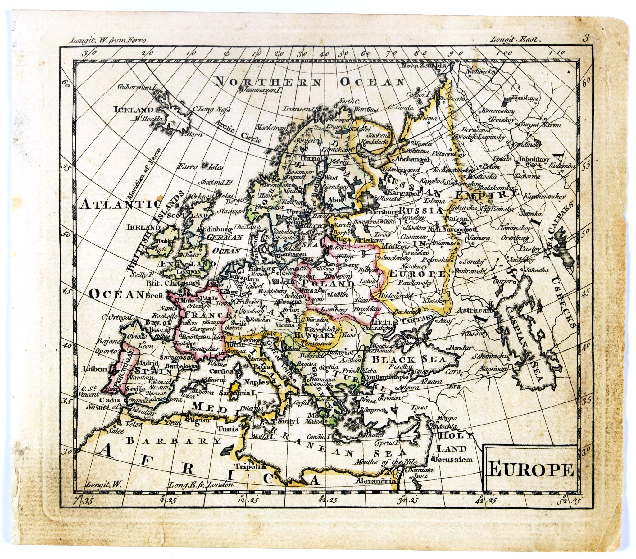 DURY, A. / SAYER, R. / KITCHIN, T.,  Europe., antique map, old maps
