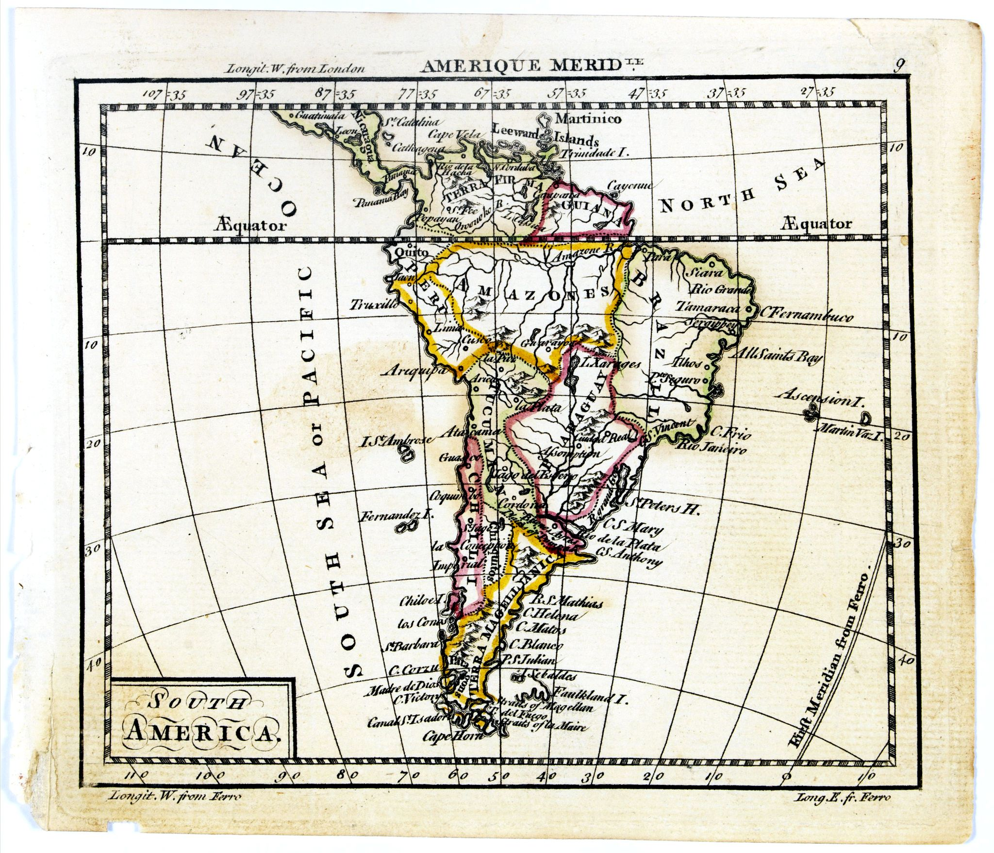 DURY, A. / SAYER, R. / KITCHIN, T.,  South America., antique map, old maps