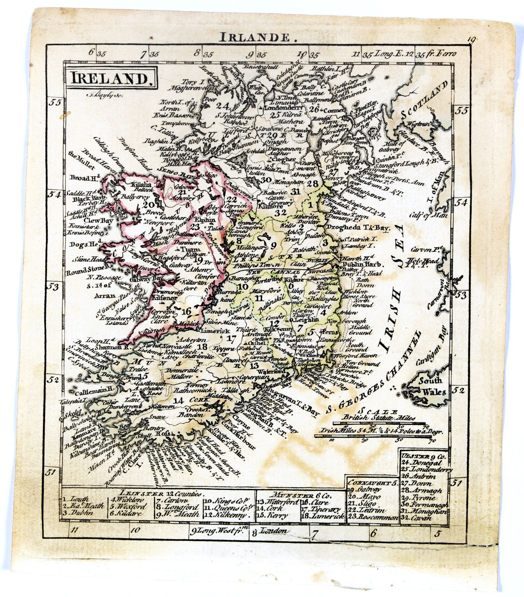 DURY, A. / SAYER, R. / KITCHIN, T.,  Ireland., antique map, old maps