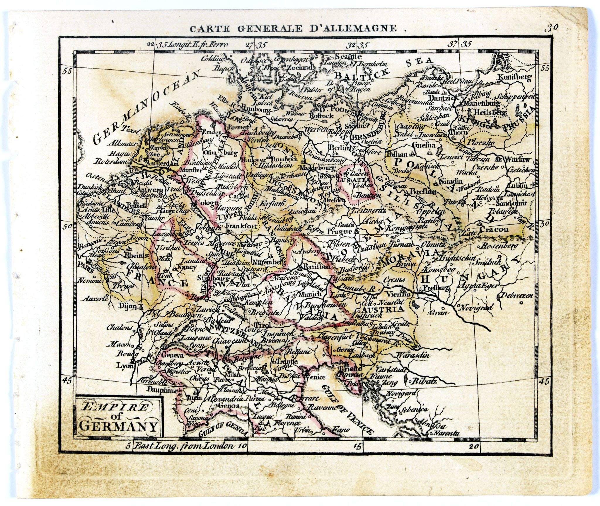 DURY, A. / SAYER, R. / KITCHIN, T.,  Empire of Germany., antique map, old maps
