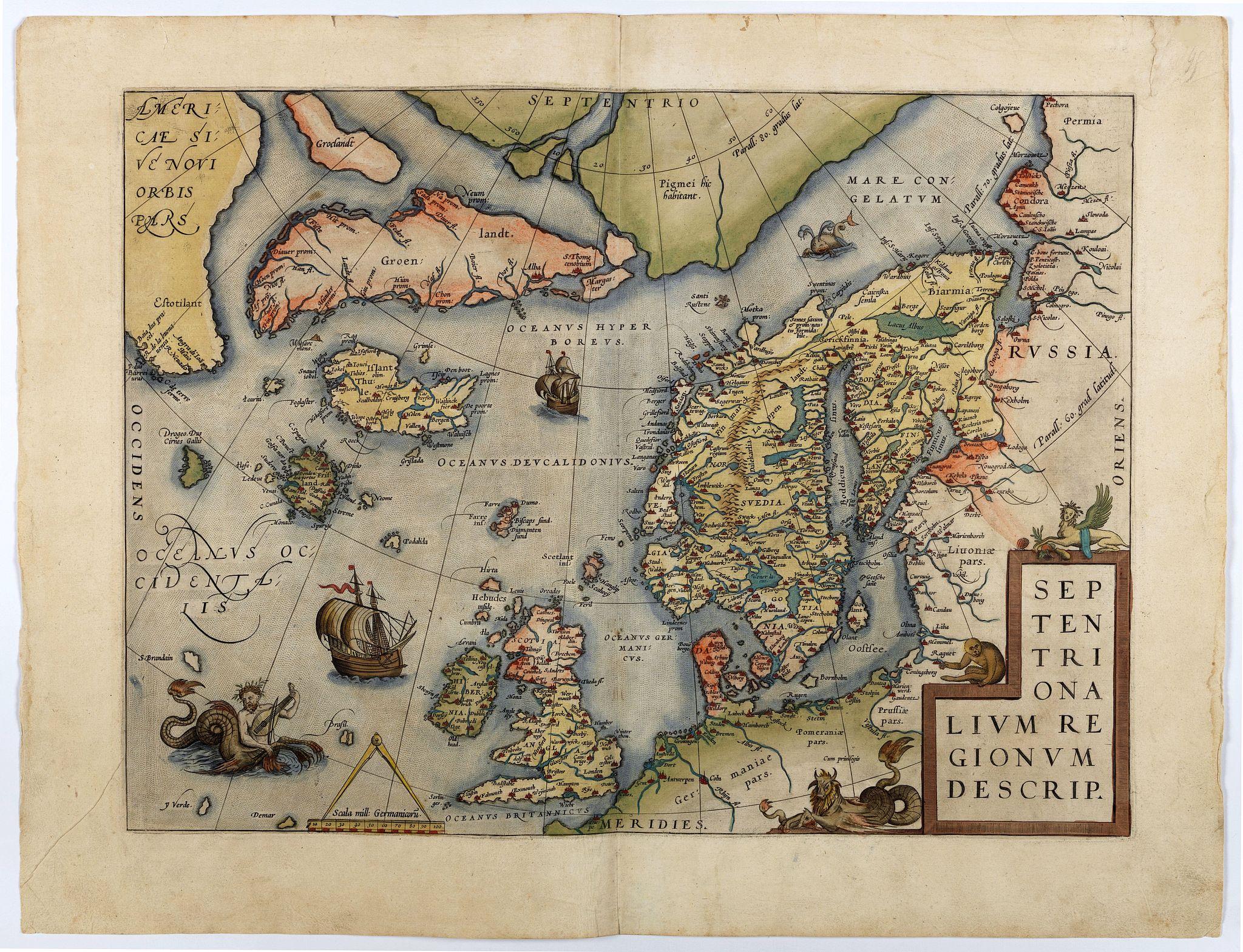 ORTELIUS, A. -  Septentrionalium Regionum Descrip.