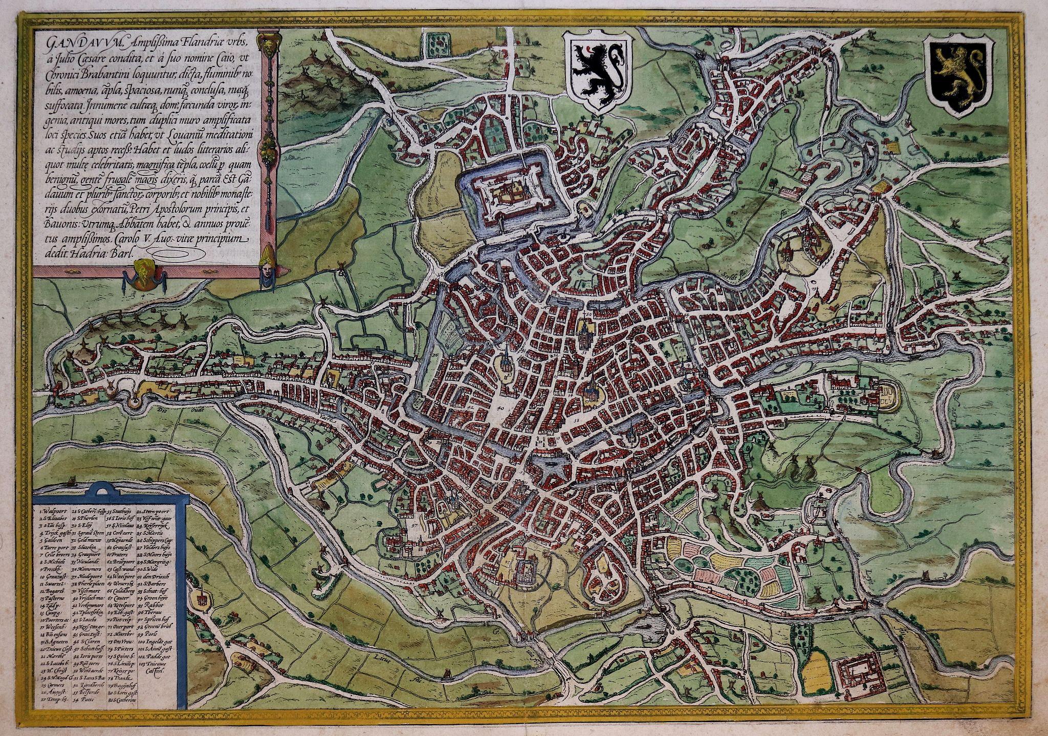 BRAUN,G. / HOGENBERG, F. - Gandavum  (Ghent)