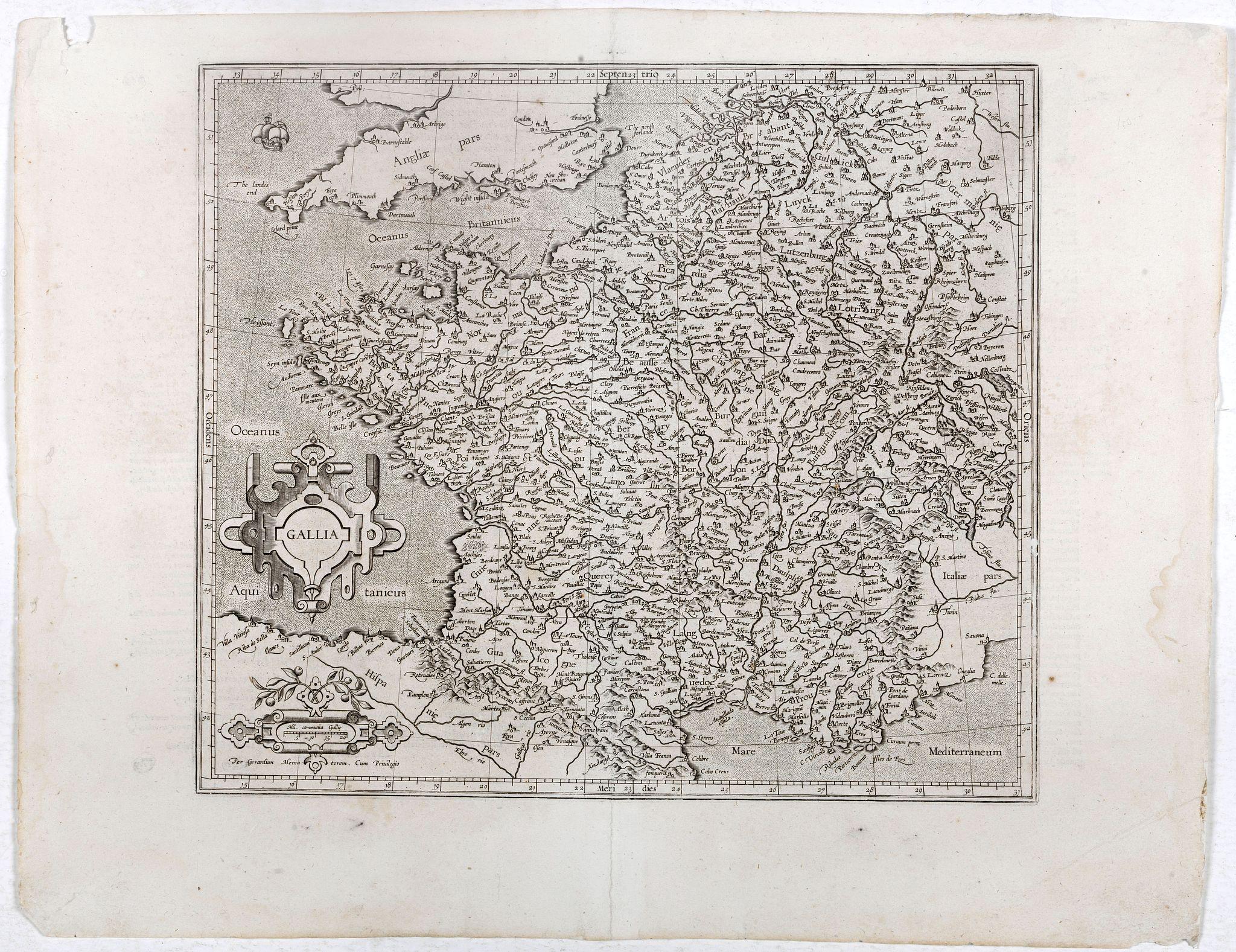 MERCATOR, G./ HONDIUS, J. -  Gallia.