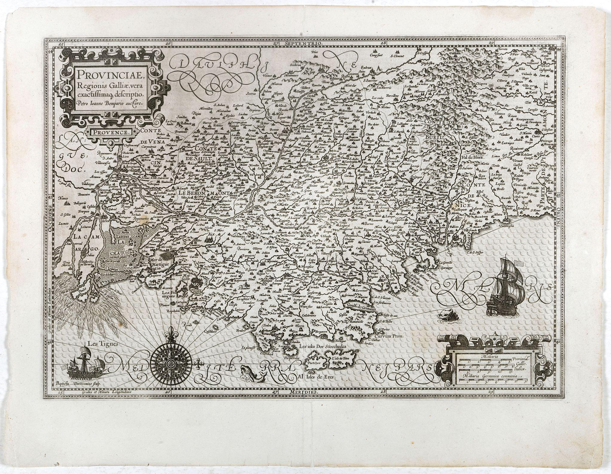 MERCATOR, G./ HONDIUS, J. -  Provinciae, Regionis Galliae, vera exactissimaq. Descriptio..