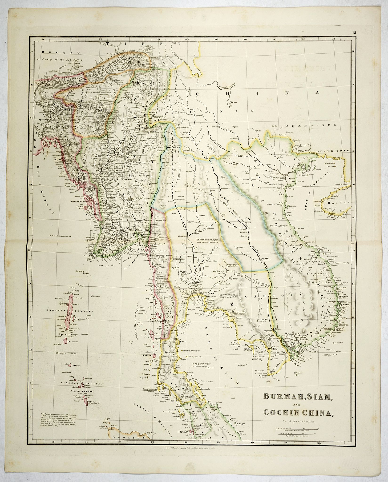 ARROWSMITH, J. -  Burmah, Siam, and Cochin China.
