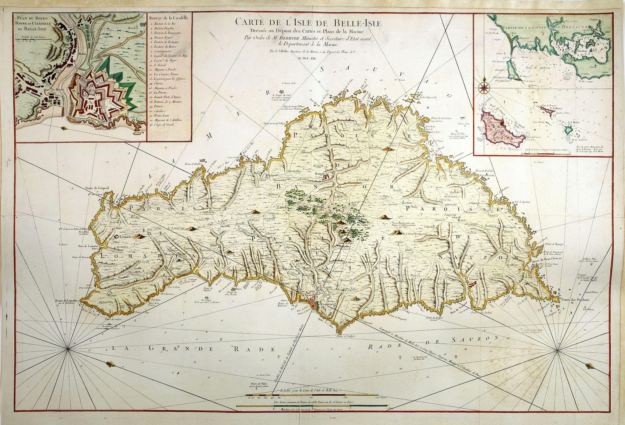 BELLIN, J.N. -  Carte De L