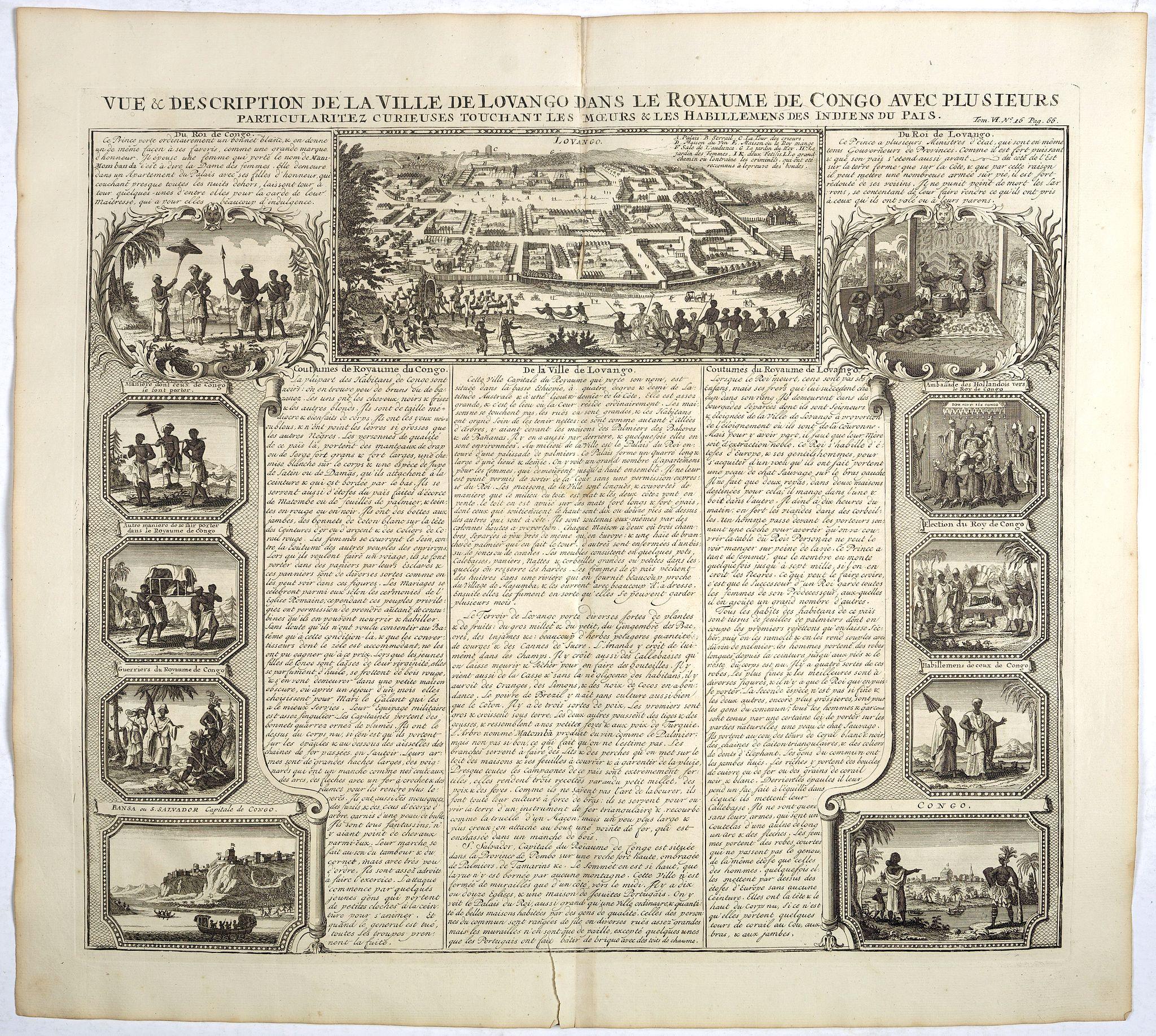 CHATELAIN, H. -  Vue et description de la Ville de Lovango dans le Royaume du Congo. . .
