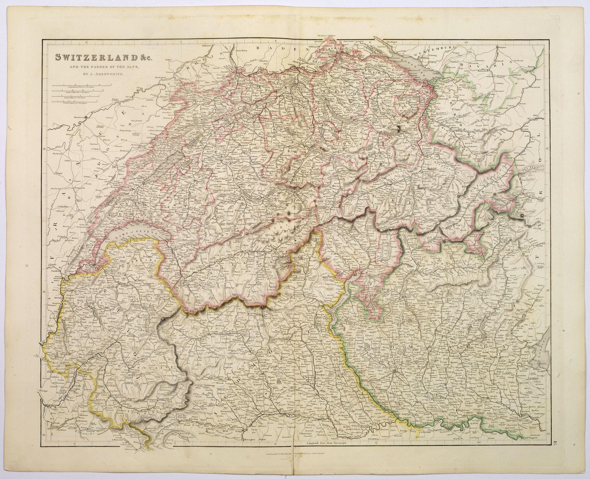 ARROWSMITH, John -  Switzerland &c, and the Passes of The Alps.