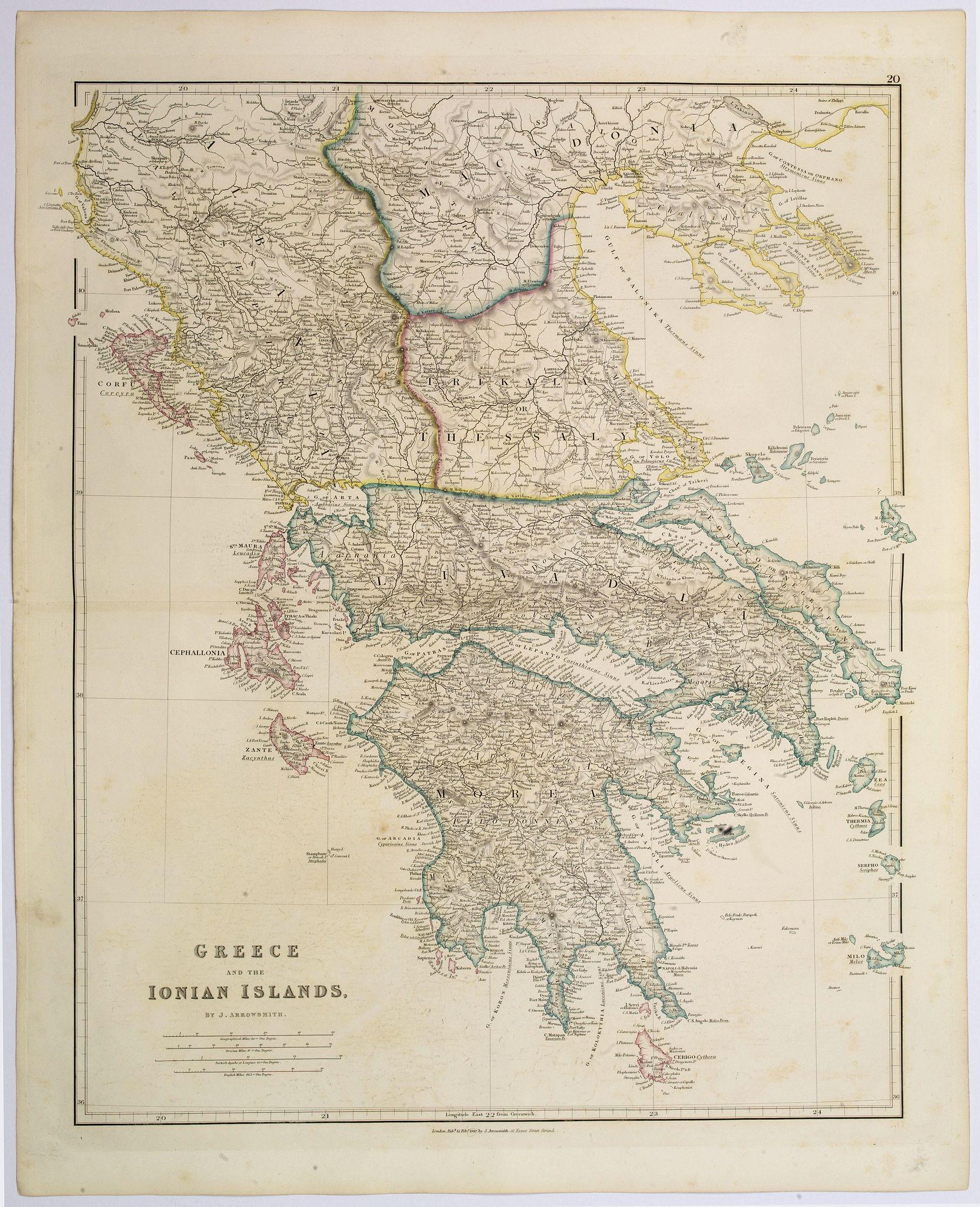 ARROWSMITH, John -  Greece and the Ionian Islands.