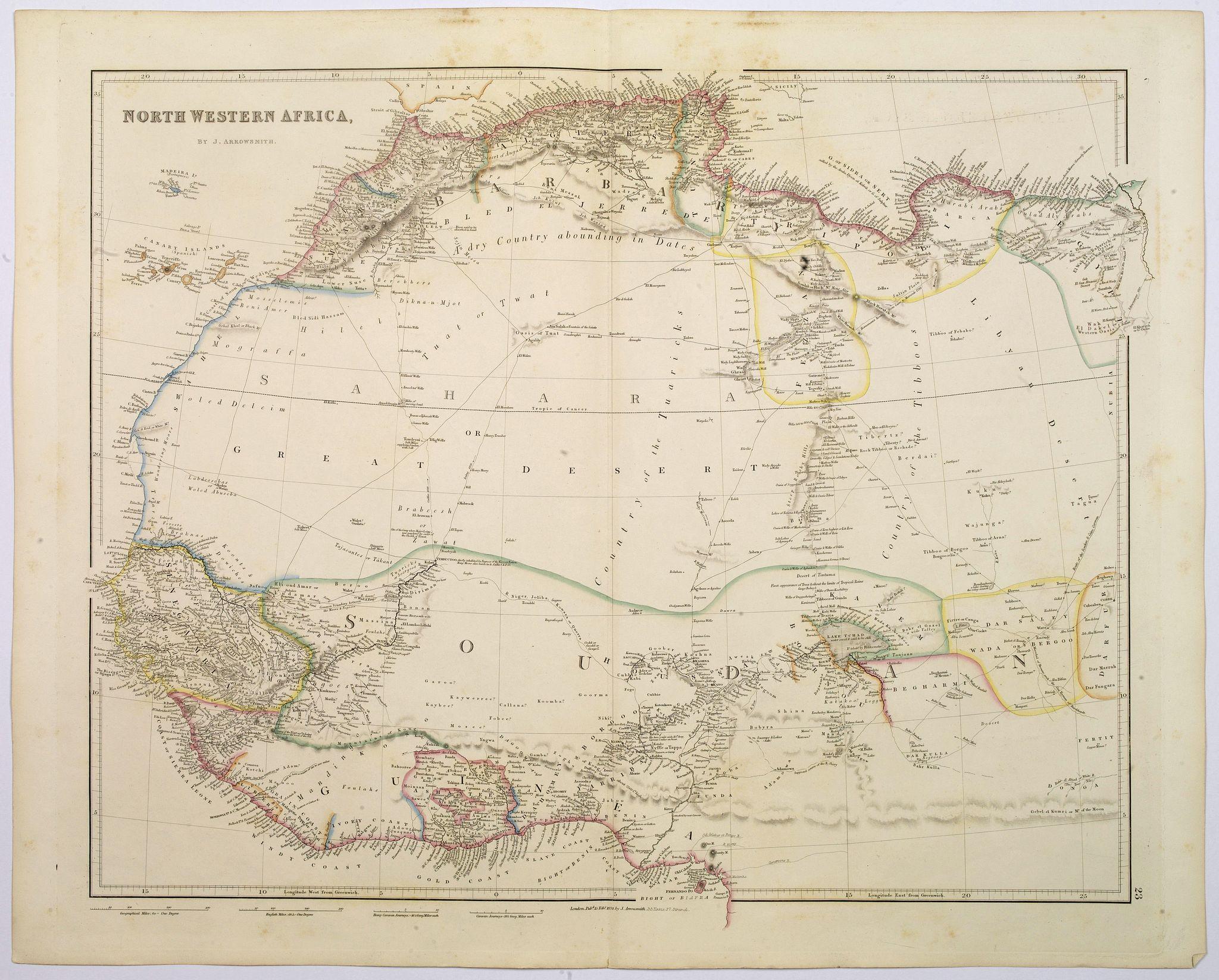 ARROWSMITH, John -  North Western Africa.