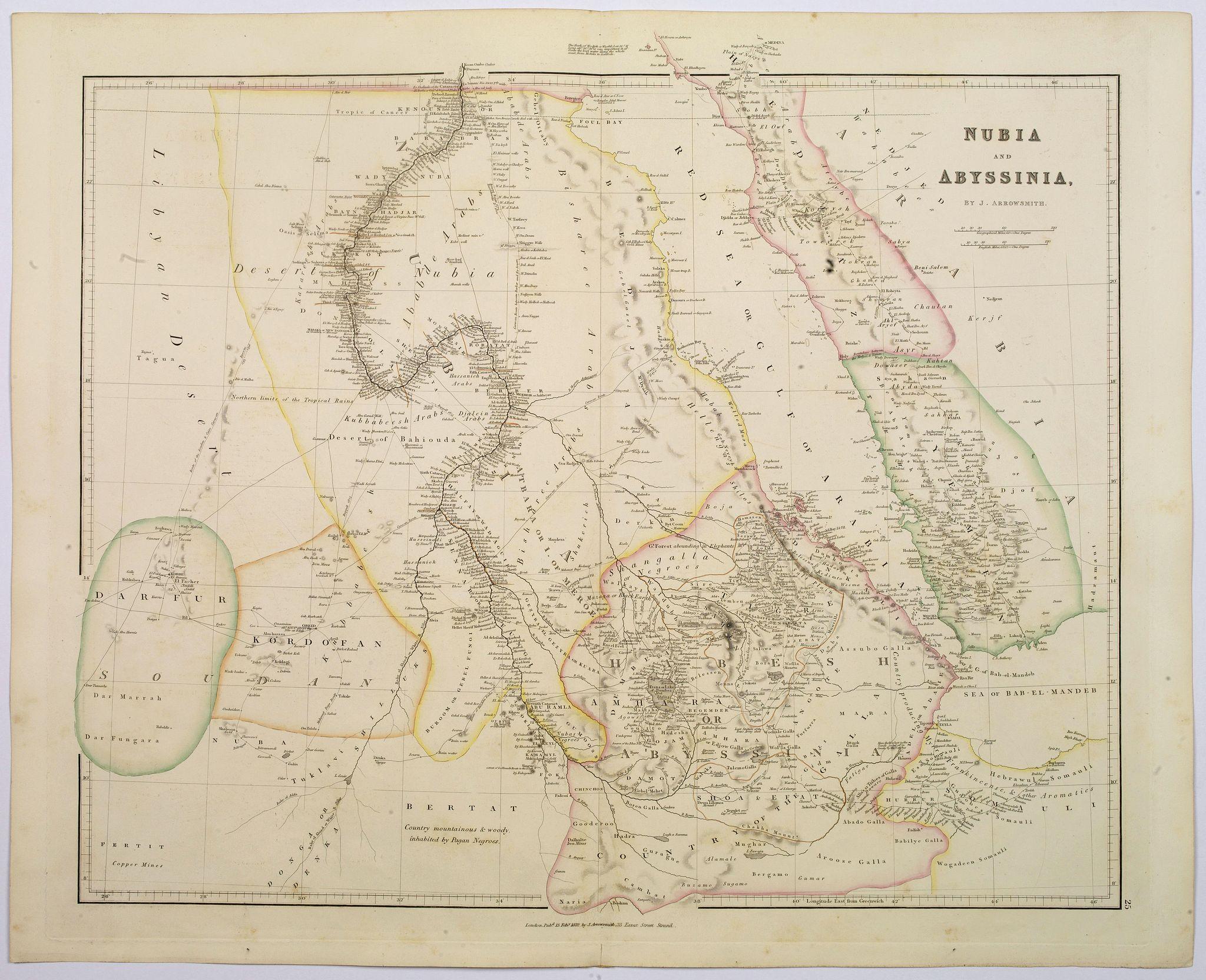 ARROWSMITH, John -  Nubia & Abyssinia.