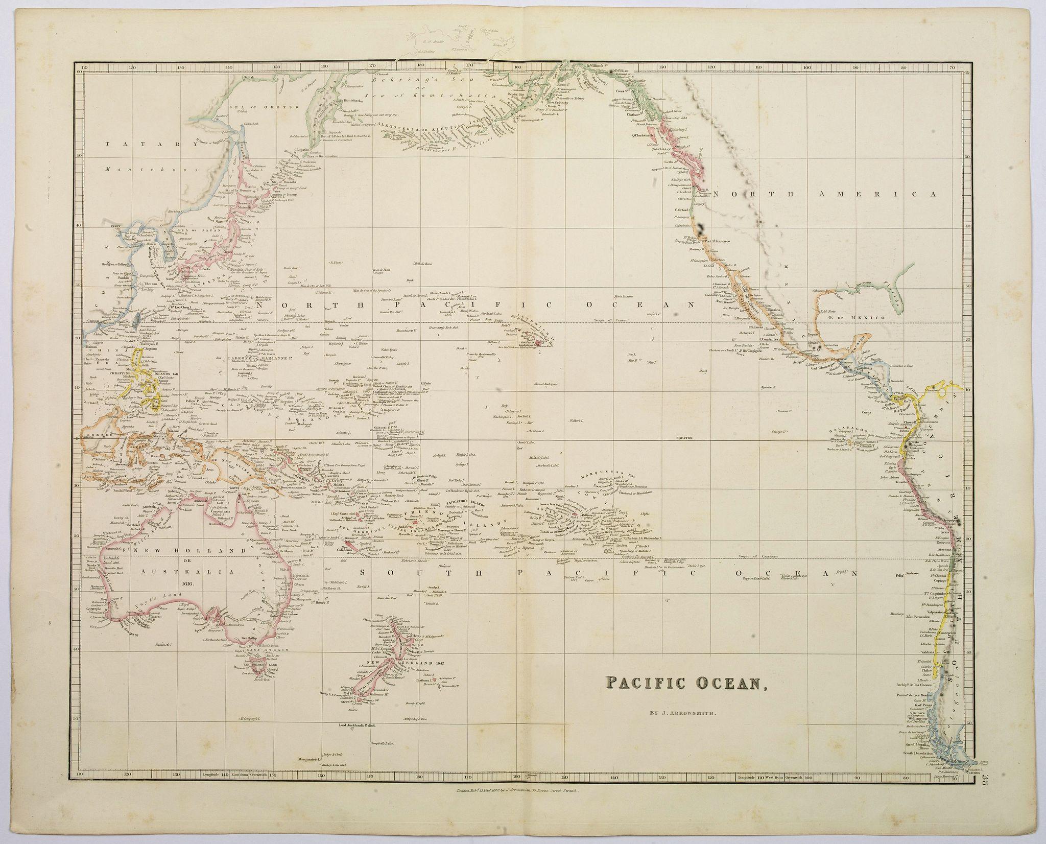 ARROWSMITH, John -  Pacific Ocean.