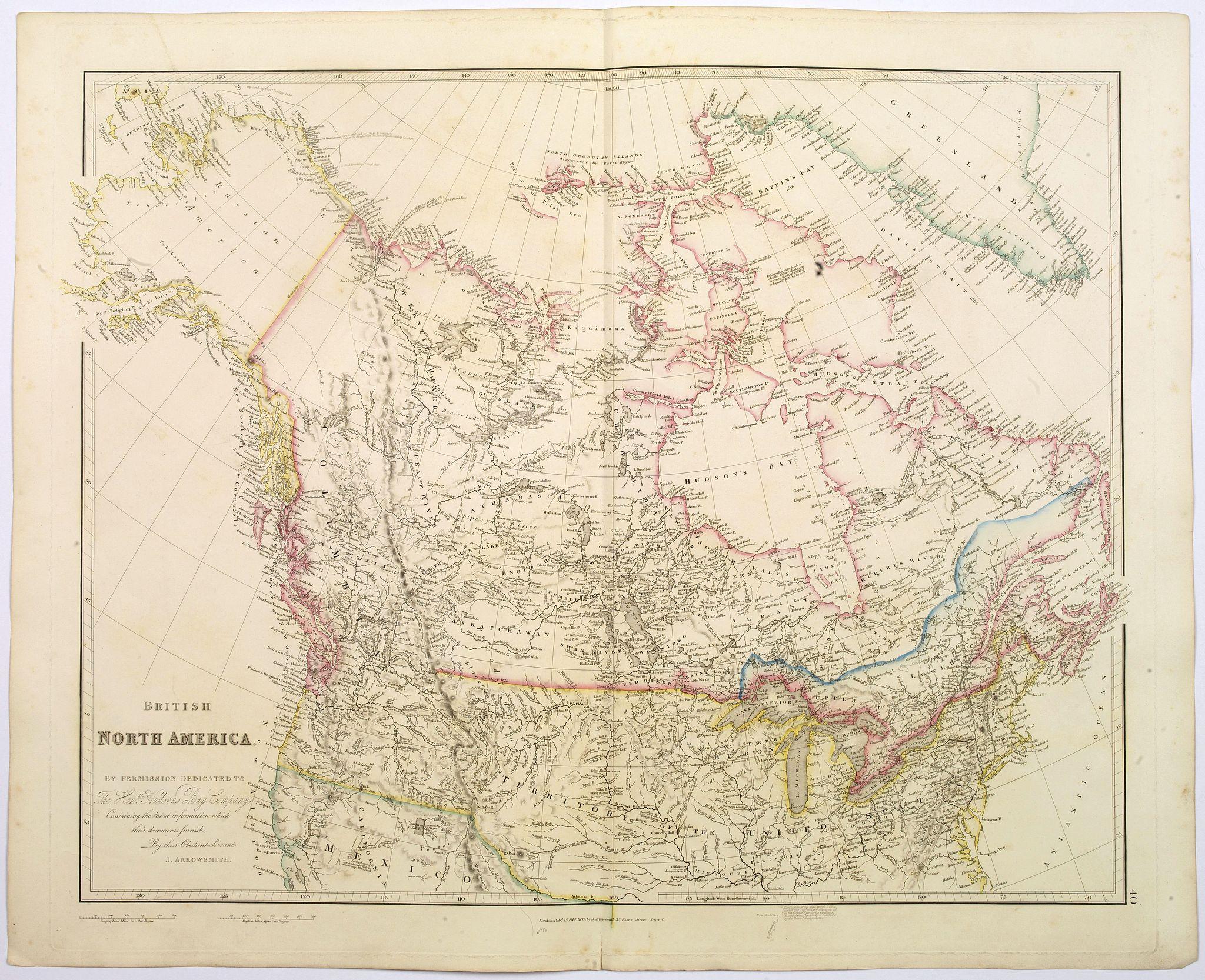 ARROWSMITH, John -  British North America.