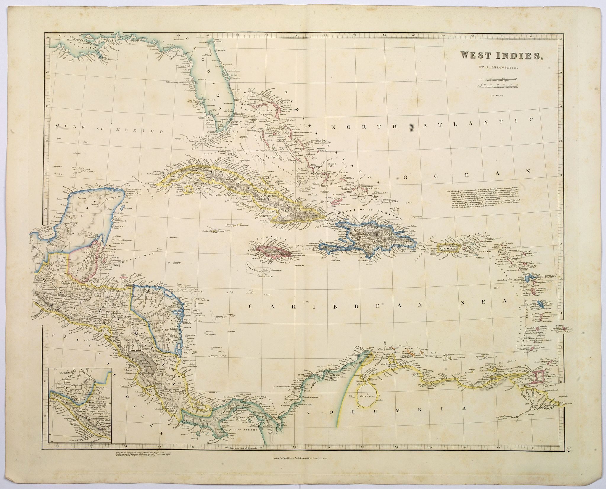 ARROWSMITH, John.,  West Indies., antique map, old maps