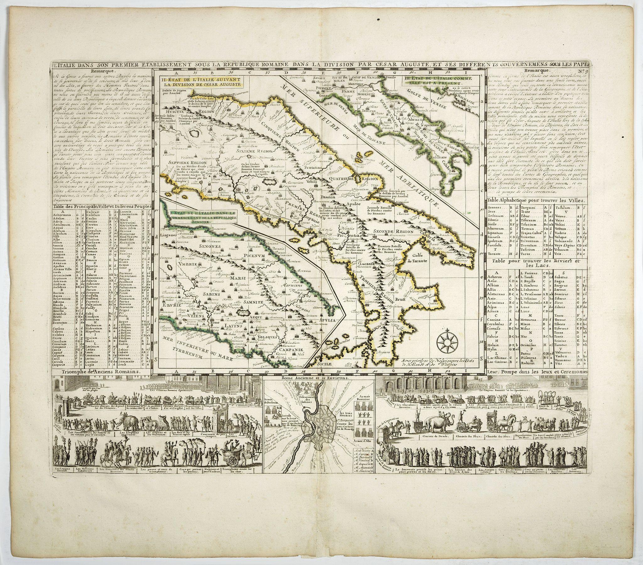 CHATELAIN,H. -  L'Italie dans son Premier Etablissement sous la Republique Romaine. . .