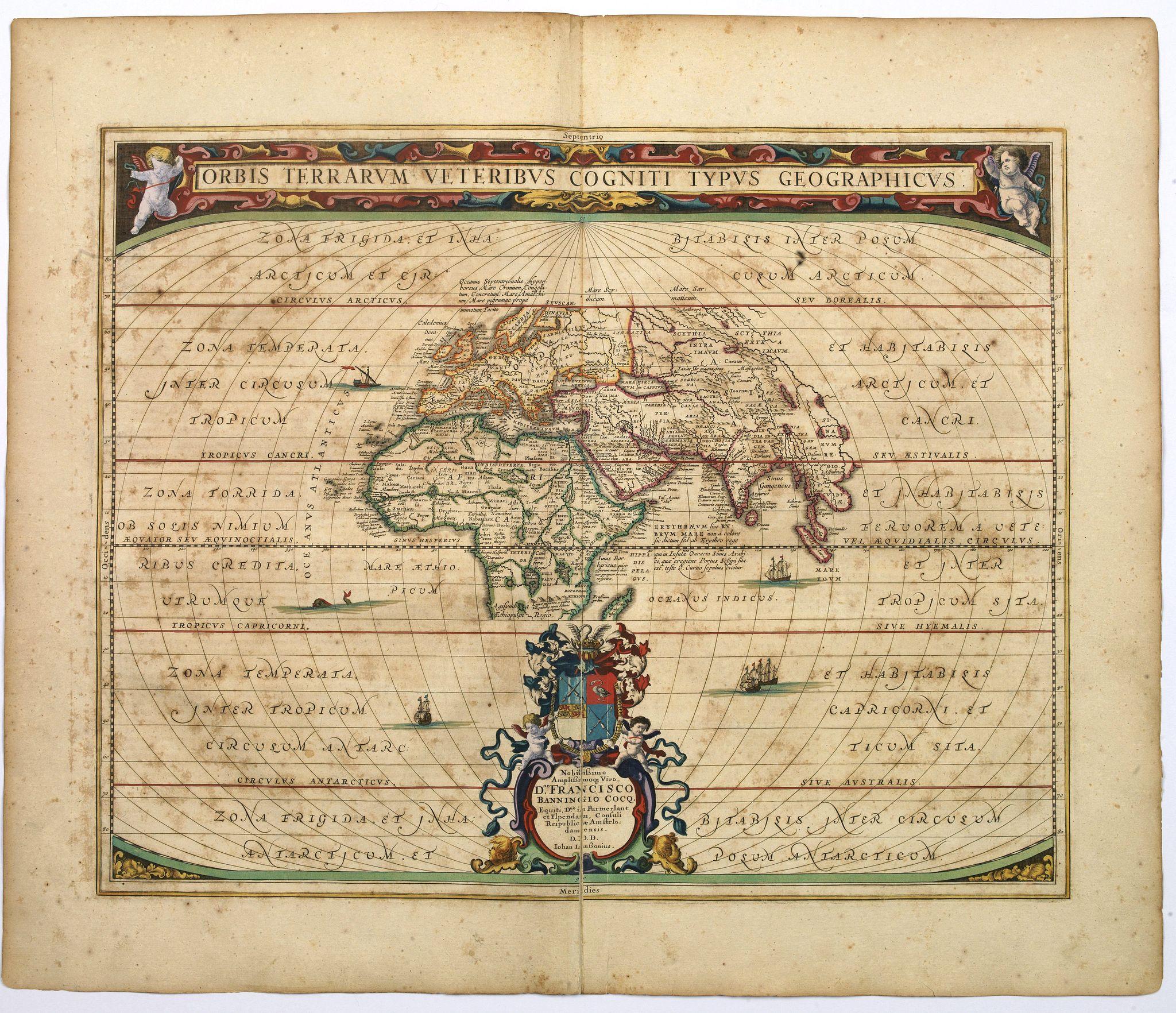 JANSSONIUS, Jan. - Orbis Terrarum Veteribus Cogniti Typus Geographicus.