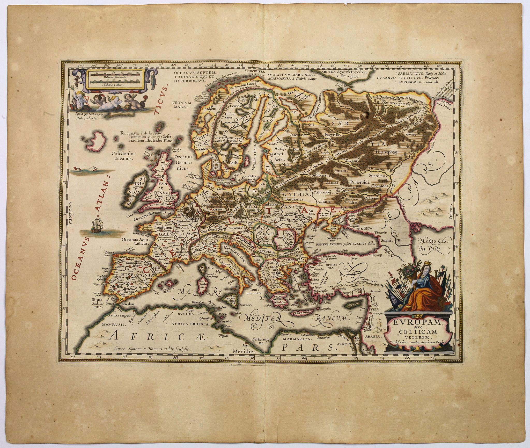 JANSSONIUS, Jan. - Europam, sive Celticam Veterem.