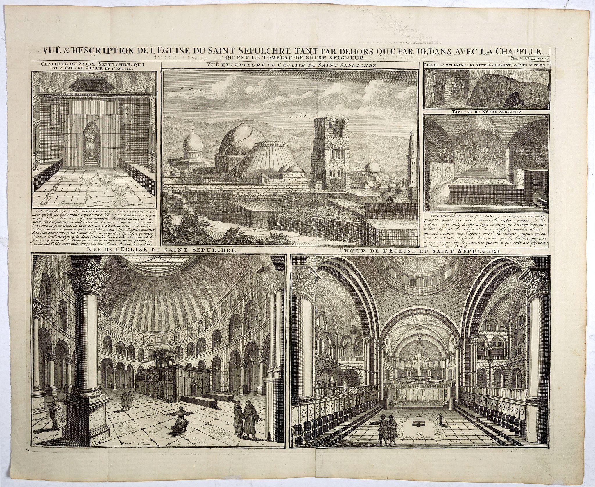 CHATELAIN, H. -  Vue & description de l'Eglise du Saint Sepulchre tant par dehors que dedans . . .
